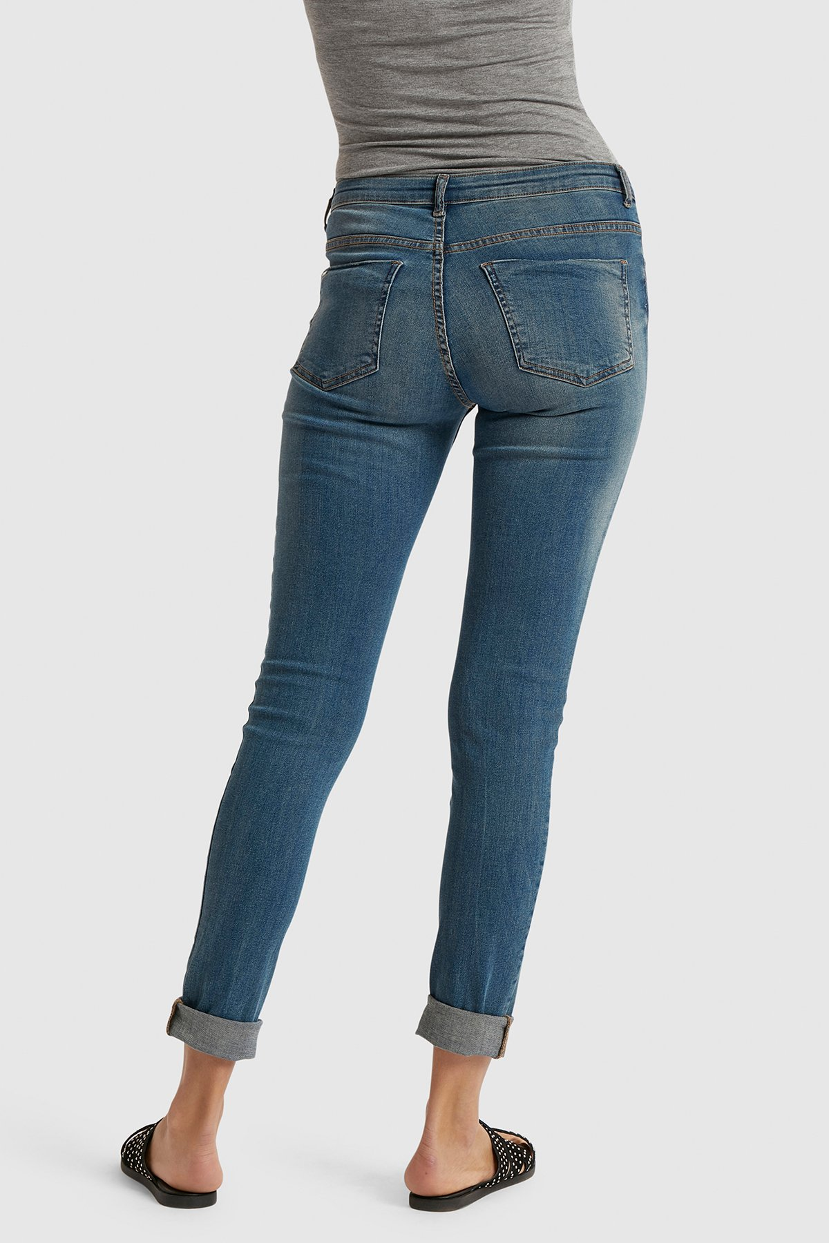 Antique Blue Lola luni Jeans fra b.young – Køb Antique Blue Lola luni Jeans fra str. 25-36 her