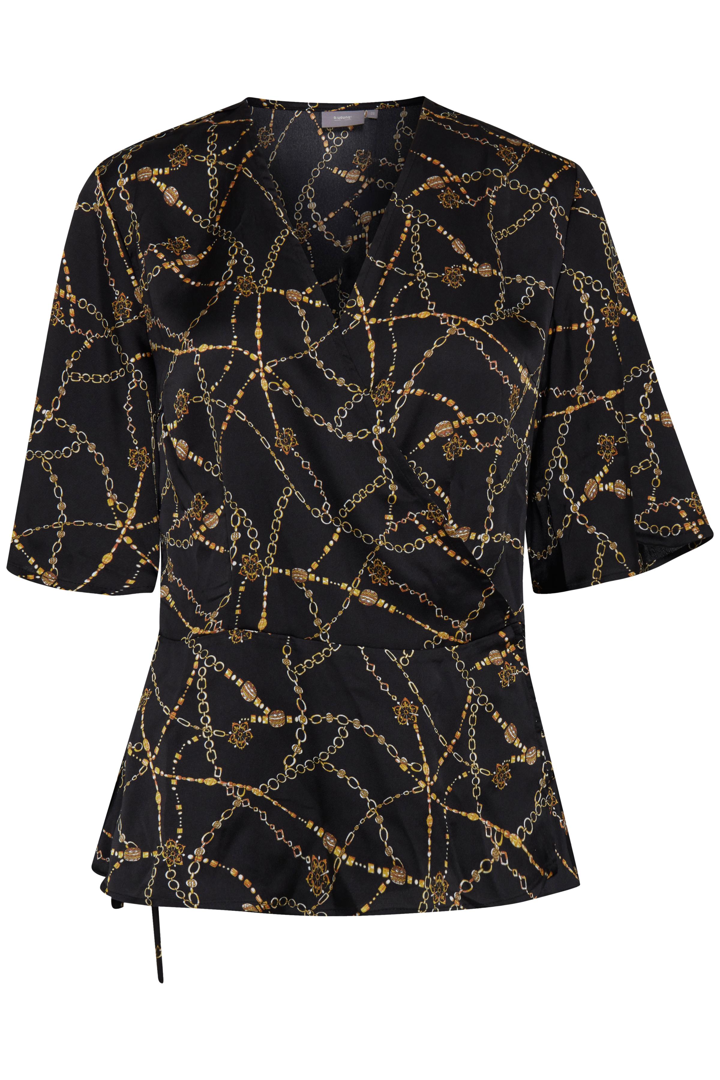Black combi 1 Kortærmet bluse fra b.young – Køb Black combi 1 Kortærmet bluse fra str. 34-44 her