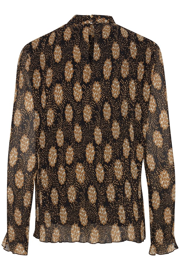 ebff8f0f3148 Black combi 1 Langærmet bluse fra b.young – Køb Black combi 1 Langærmet  bluse fra str.