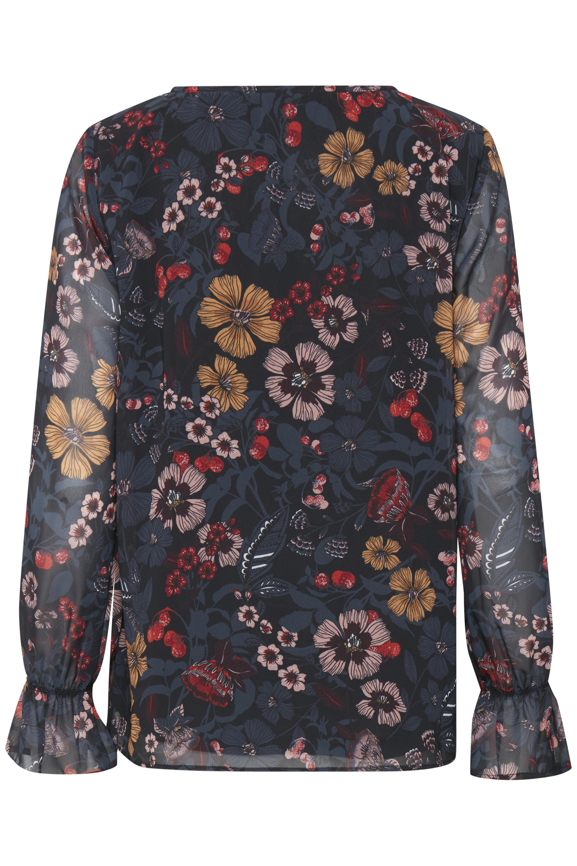 Black COMBI 1 print Langærmet bluse fra b.young – Køb Black COMBI 1 print Langærmet bluse fra str. 36-46 her
