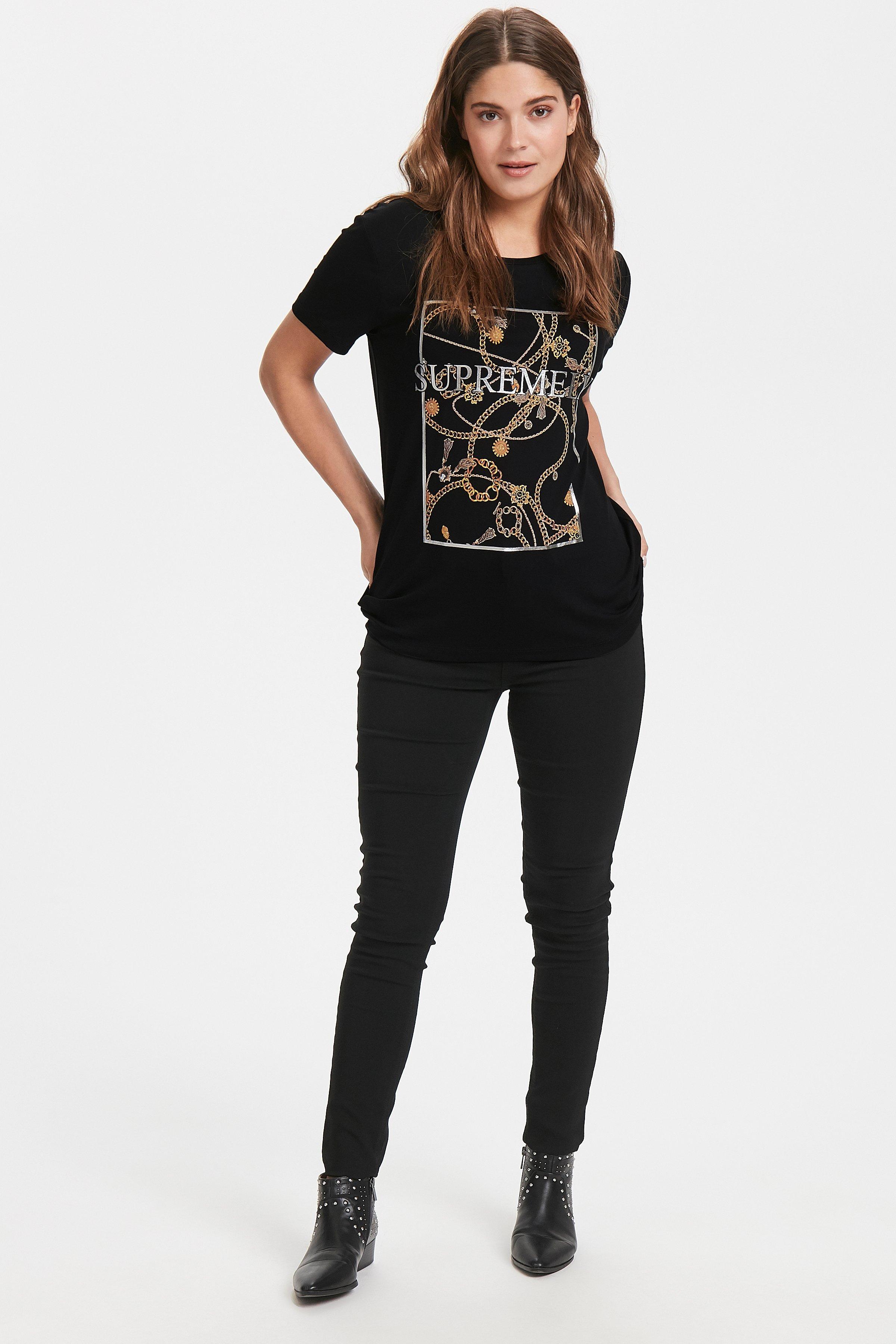 Black combi 1 T-shirt von b.young – Kaufen Sie Black combi 1 T-shirt aus Größe XS-XL hier