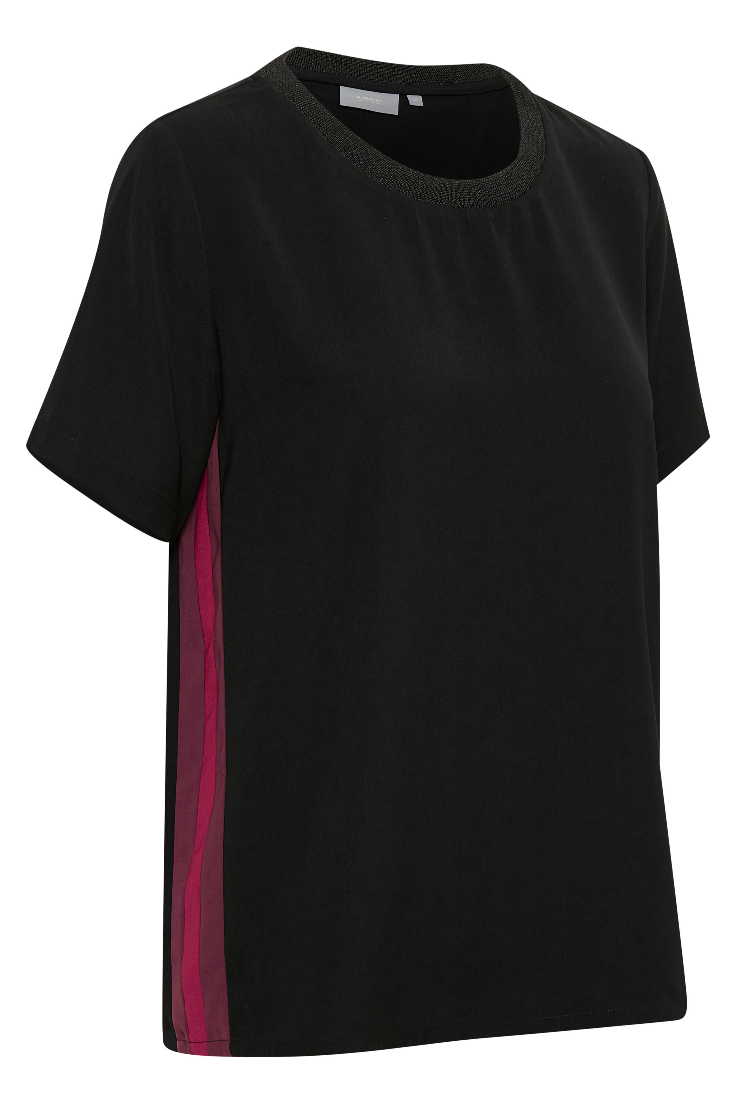 Black combi Kortærmet bluse fra b.young – Køb Black combi Kortærmet bluse fra str. 36-46 her