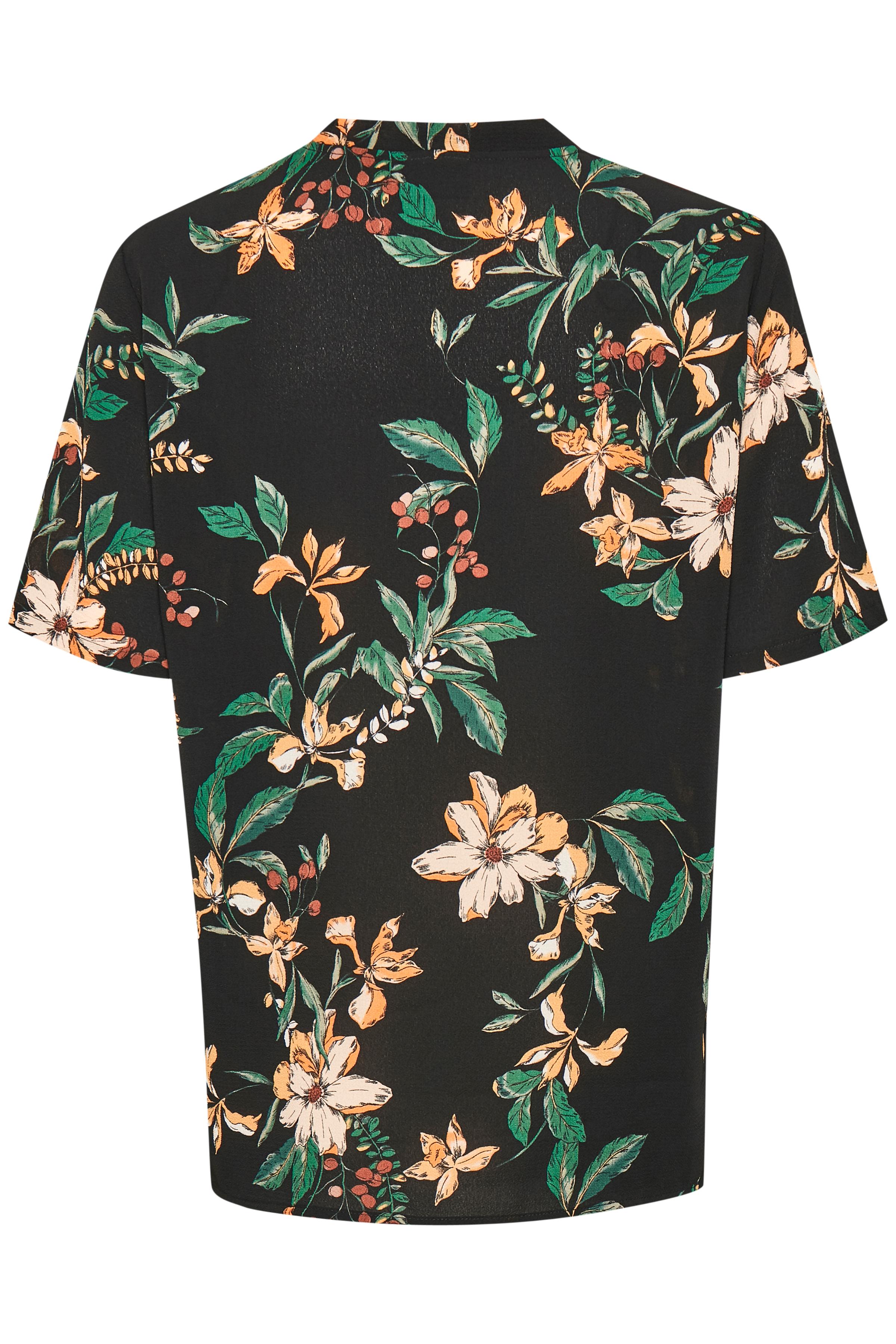 Black combi Kortermet bluse fra b.young - Kjøp Black combi Kortermet bluse fra størrelse 34-44 her
