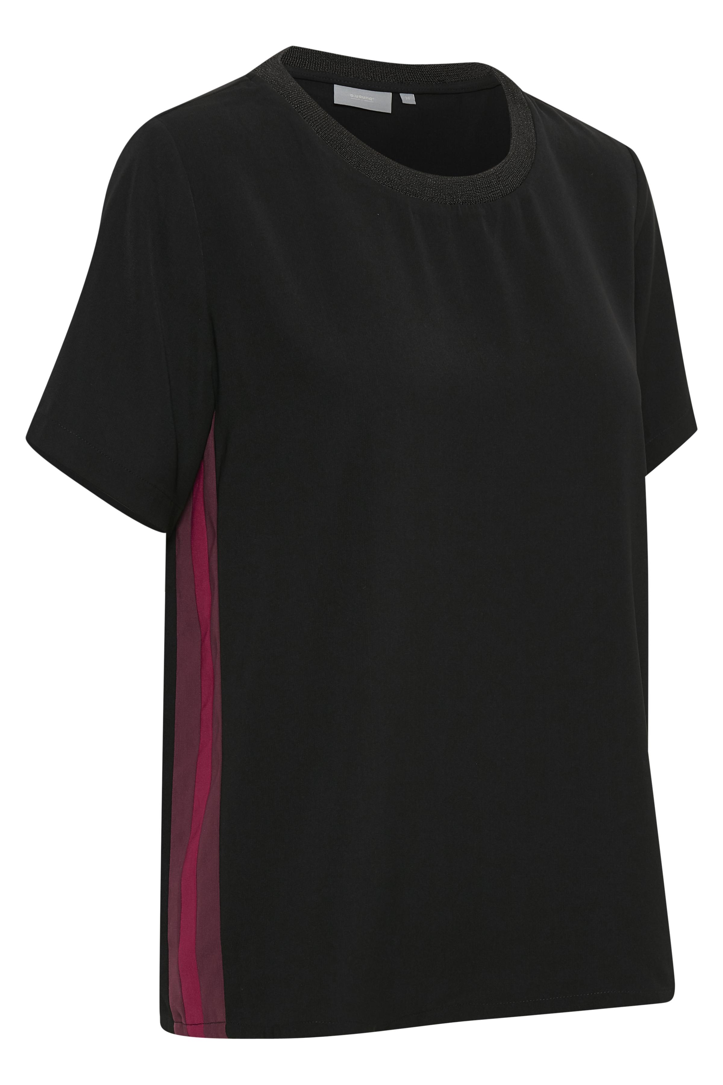 Black combi Kurzarm-Bluse von b.young – Kaufen Sie Black combi Kurzarm-Bluse aus Größe 36-46 hier
