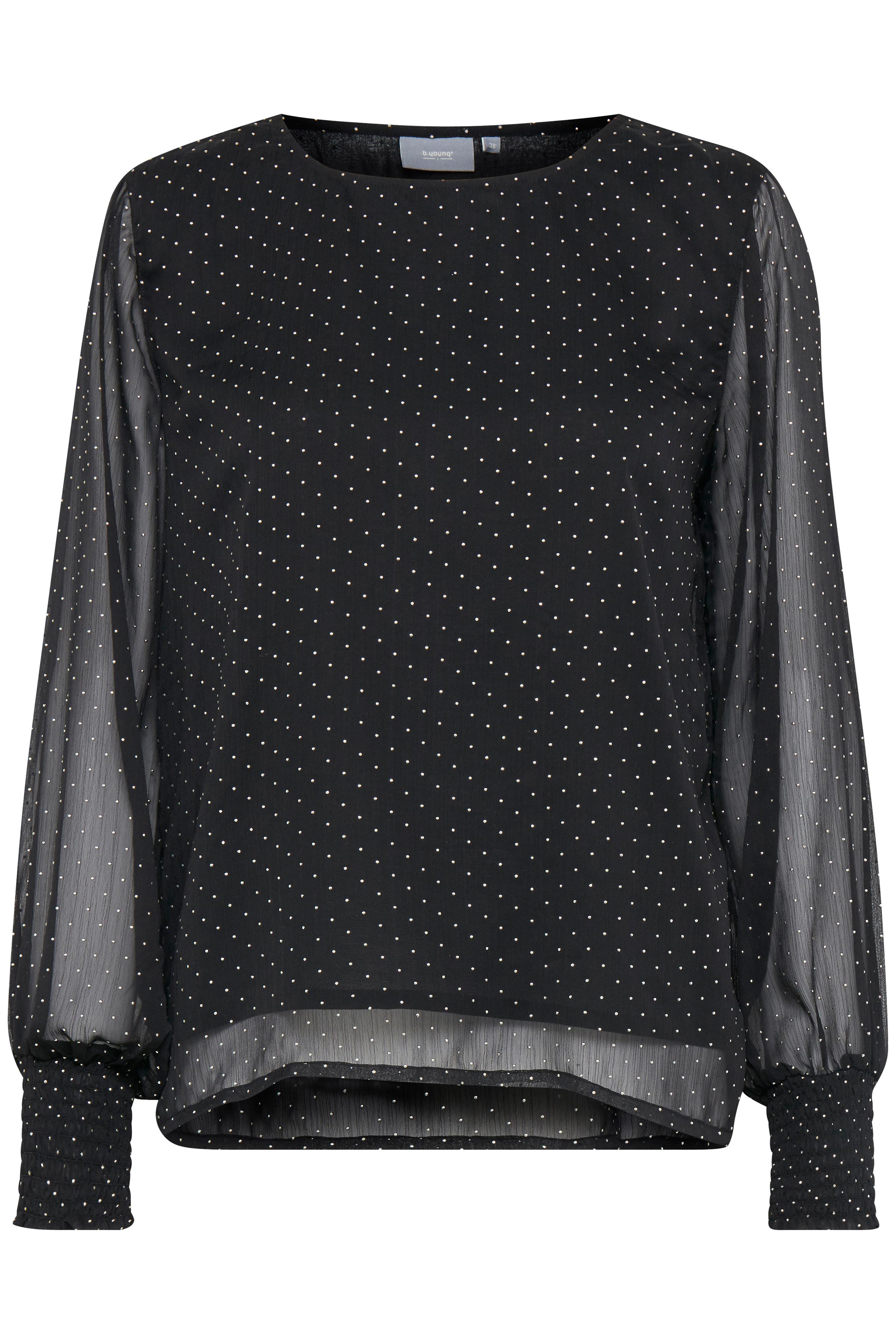 Black combi Langærmet bluse fra b.young – Køb Black combi Langærmet bluse fra str. 34-44 her