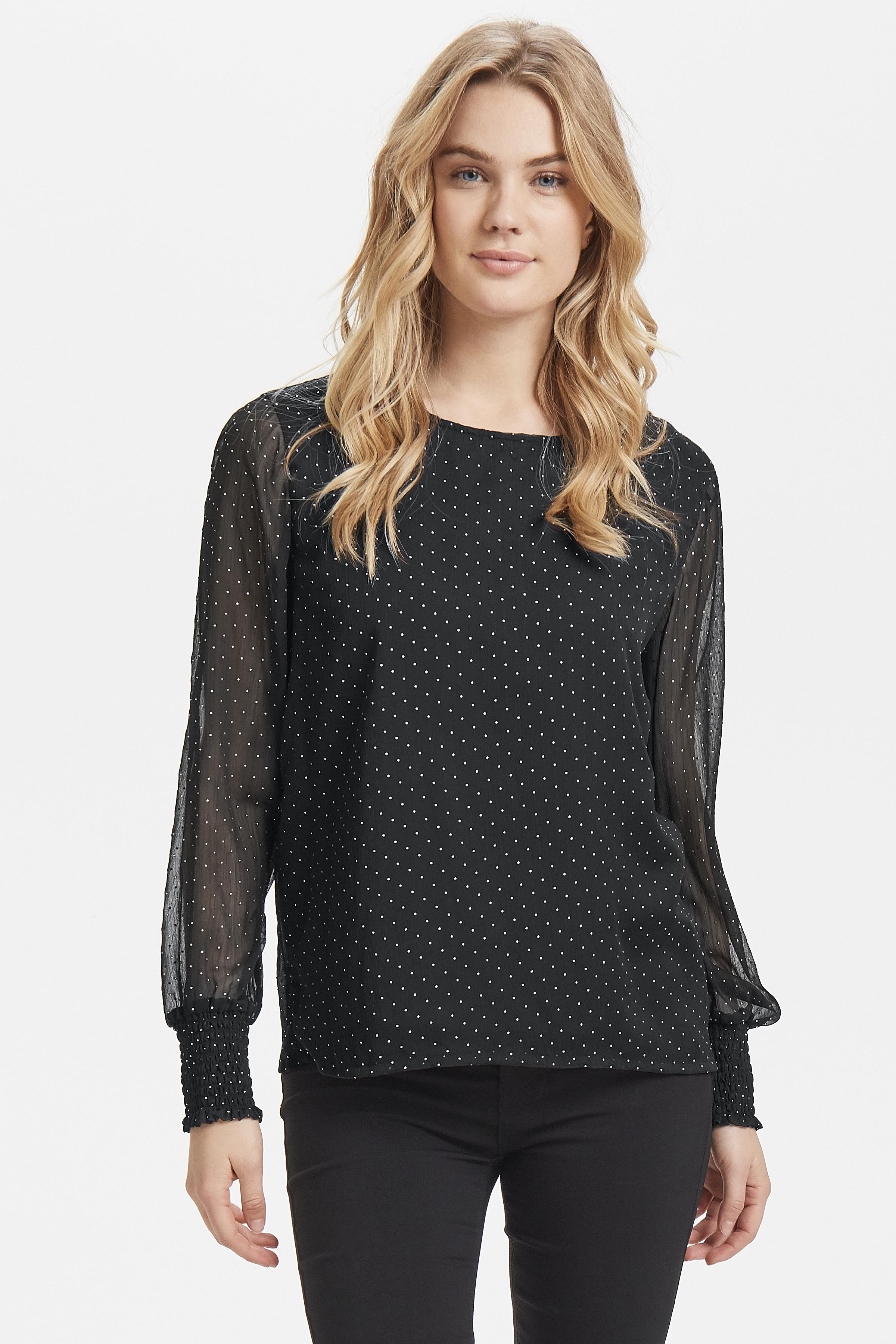 Black combi Langermet bluse fra b.young - Kjøp Black combi Langermet bluse fra størrelse 34-44 her