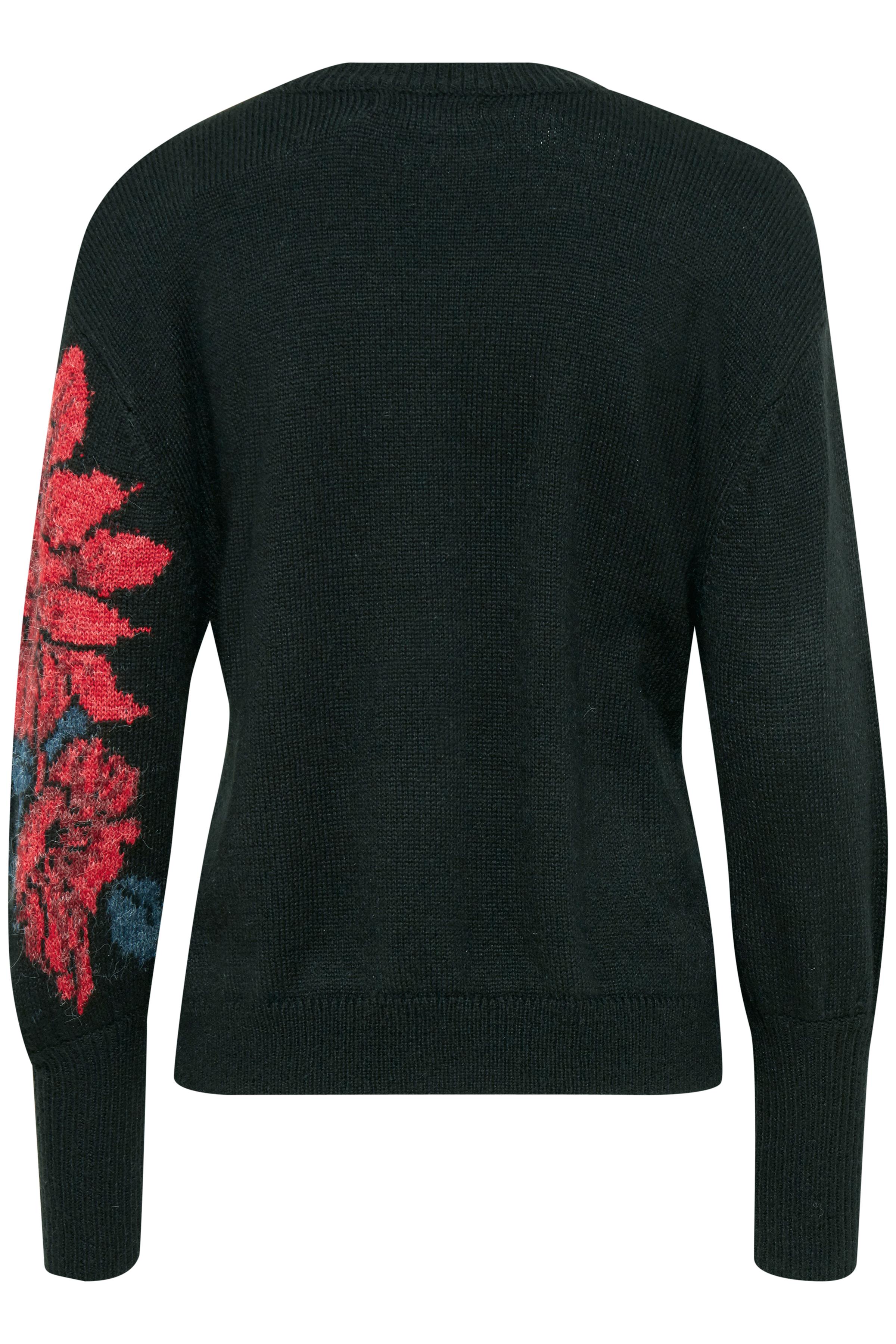 Black combi Strikket pullover fra b.young - Kjøp Black combi Strikket pullover fra størrelse XS-XXL her