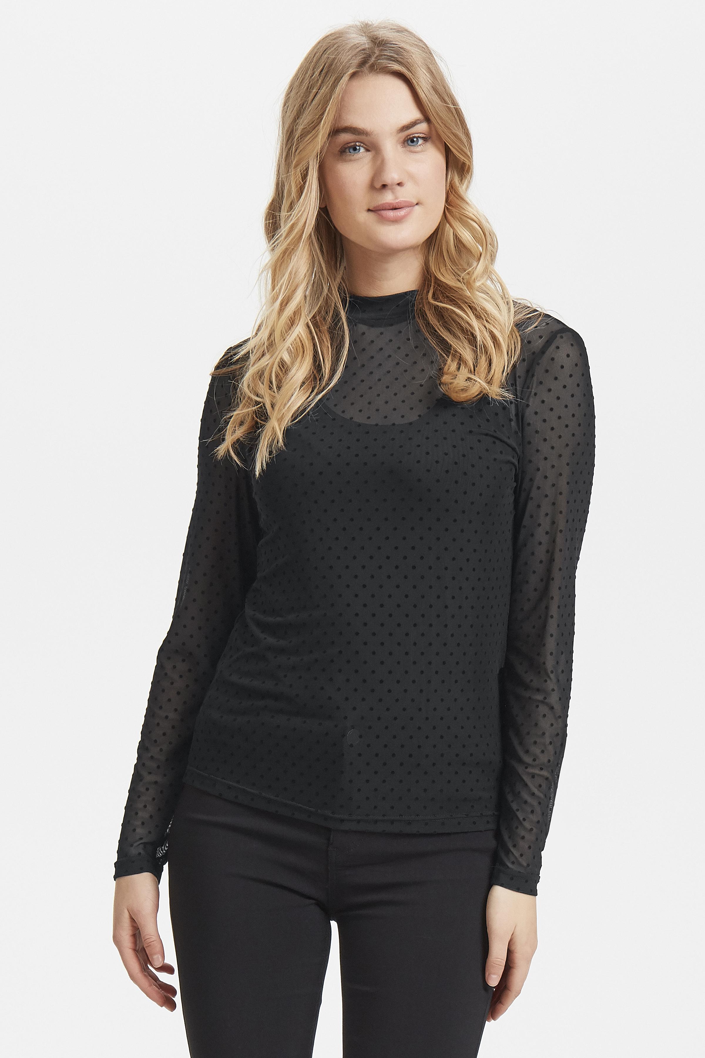 Black dot Combi 1 Blouse met lange mouwen van b.young – Koop Black dot Combi 1 Blouse met lange mouwen hier van size XS-XL