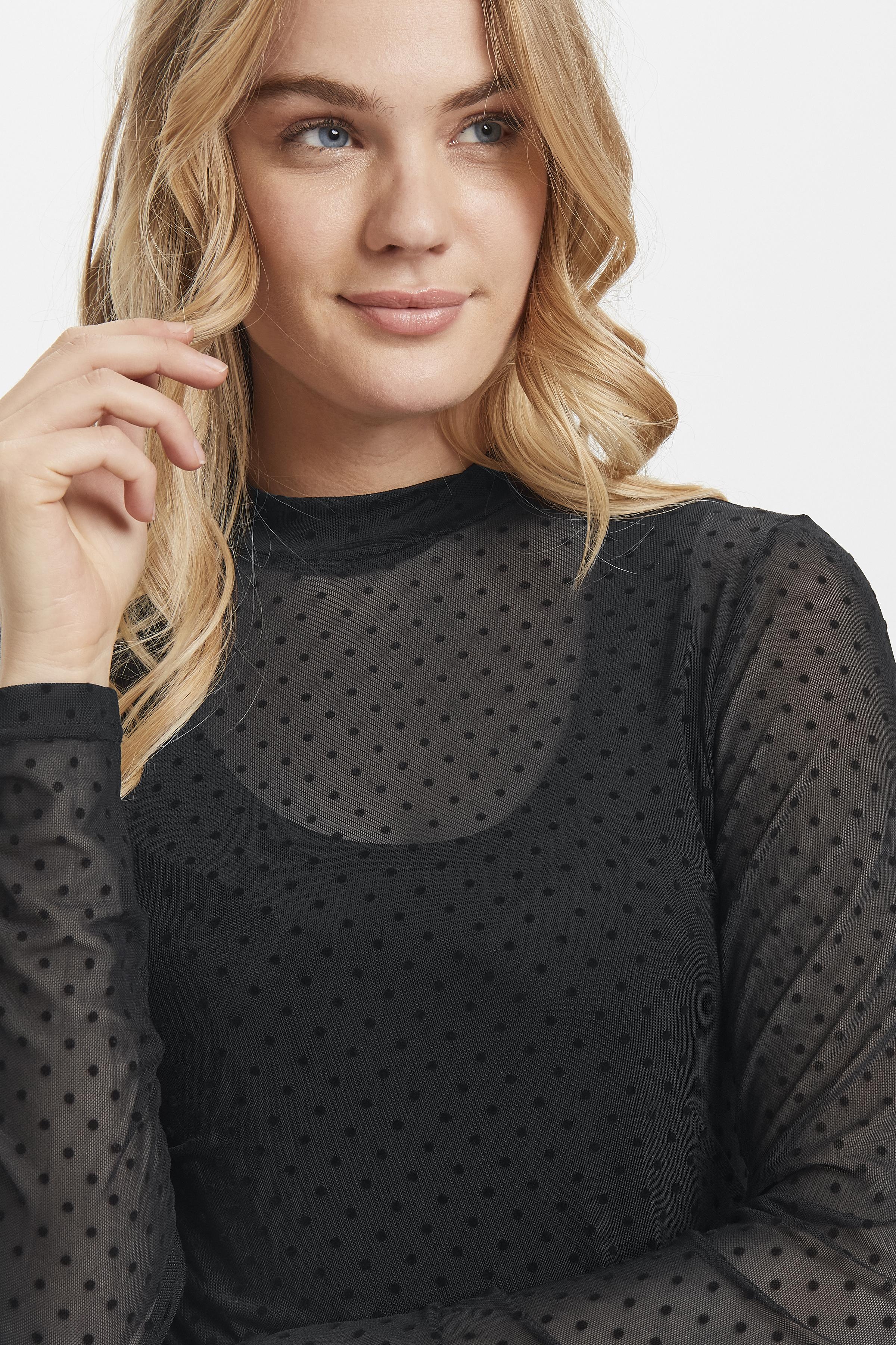Black dot Combi 1 Langarm-Bluse von b.young – Kaufen Sie Black dot Combi 1 Langarm-Bluse aus Größe XS-XL hier
