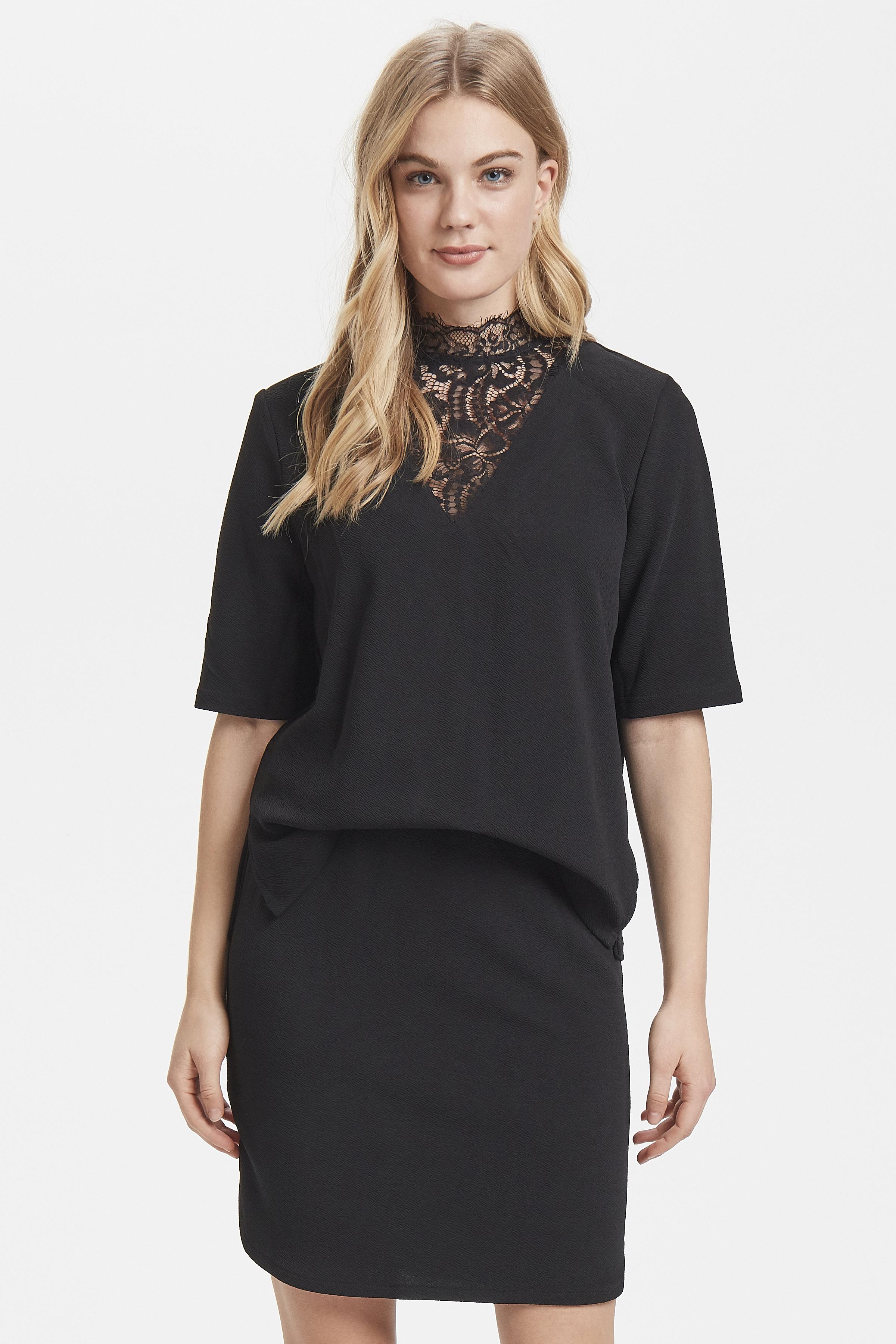 Black Jerseykjole fra b.young – Køb Black Jerseykjole fra str. XS-XL her