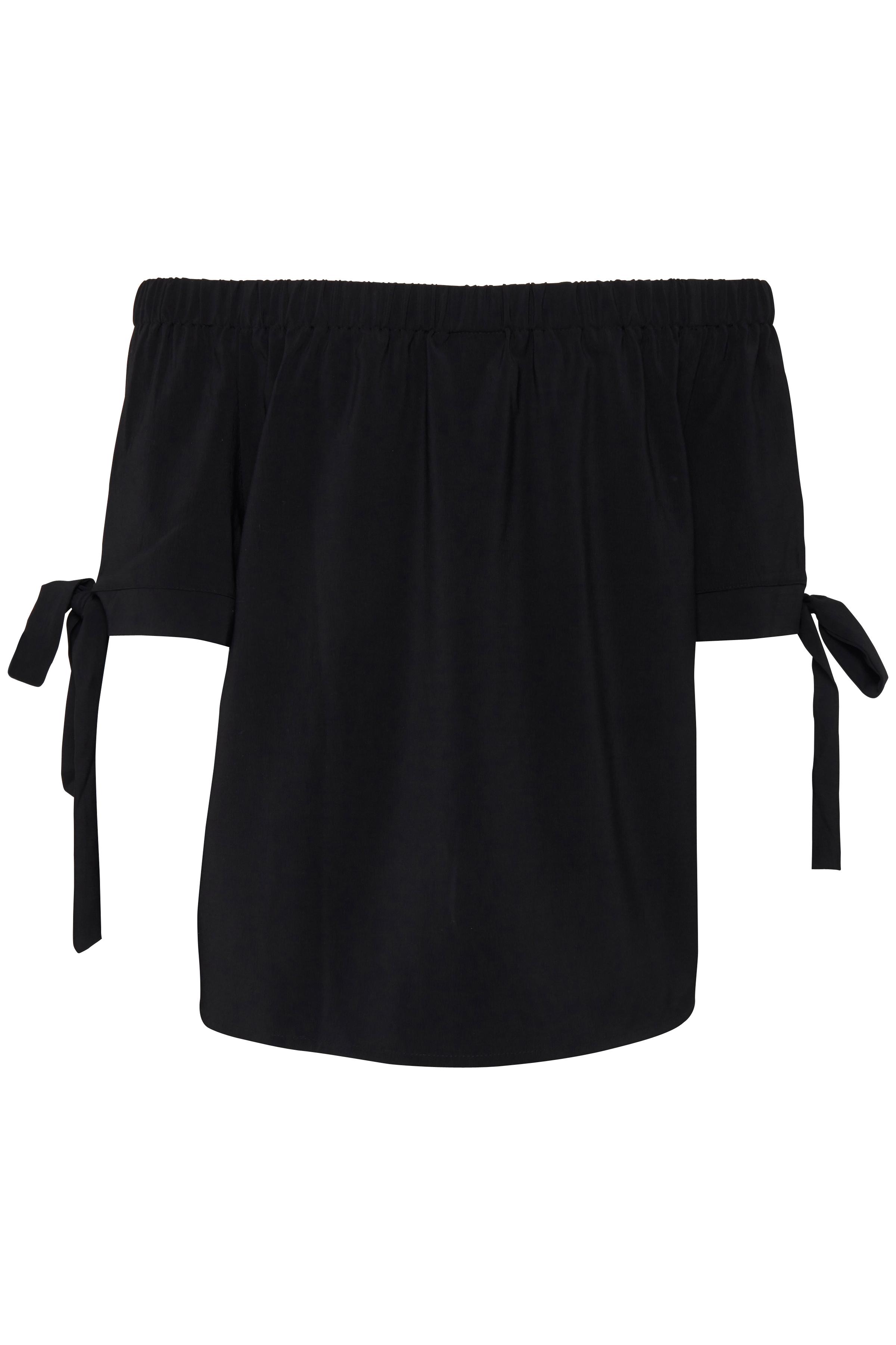 Black Kortærmet bluse fra b.young – Køb Black Kortærmet bluse fra str. 34-42 her