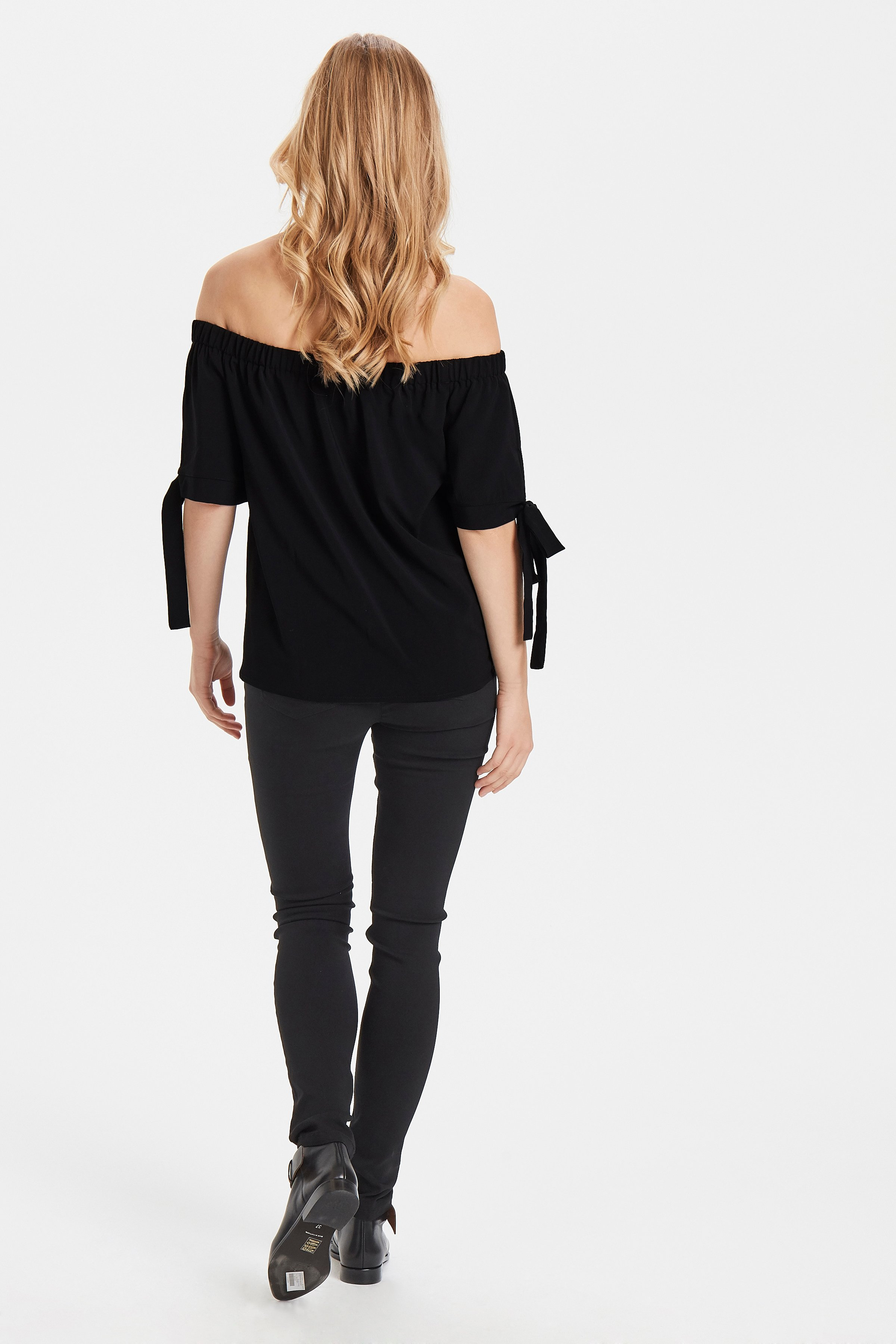 Black Kurzarm-Bluse von b.young – Kaufen Sie Black Kurzarm-Bluse aus Größe 34-42 hier