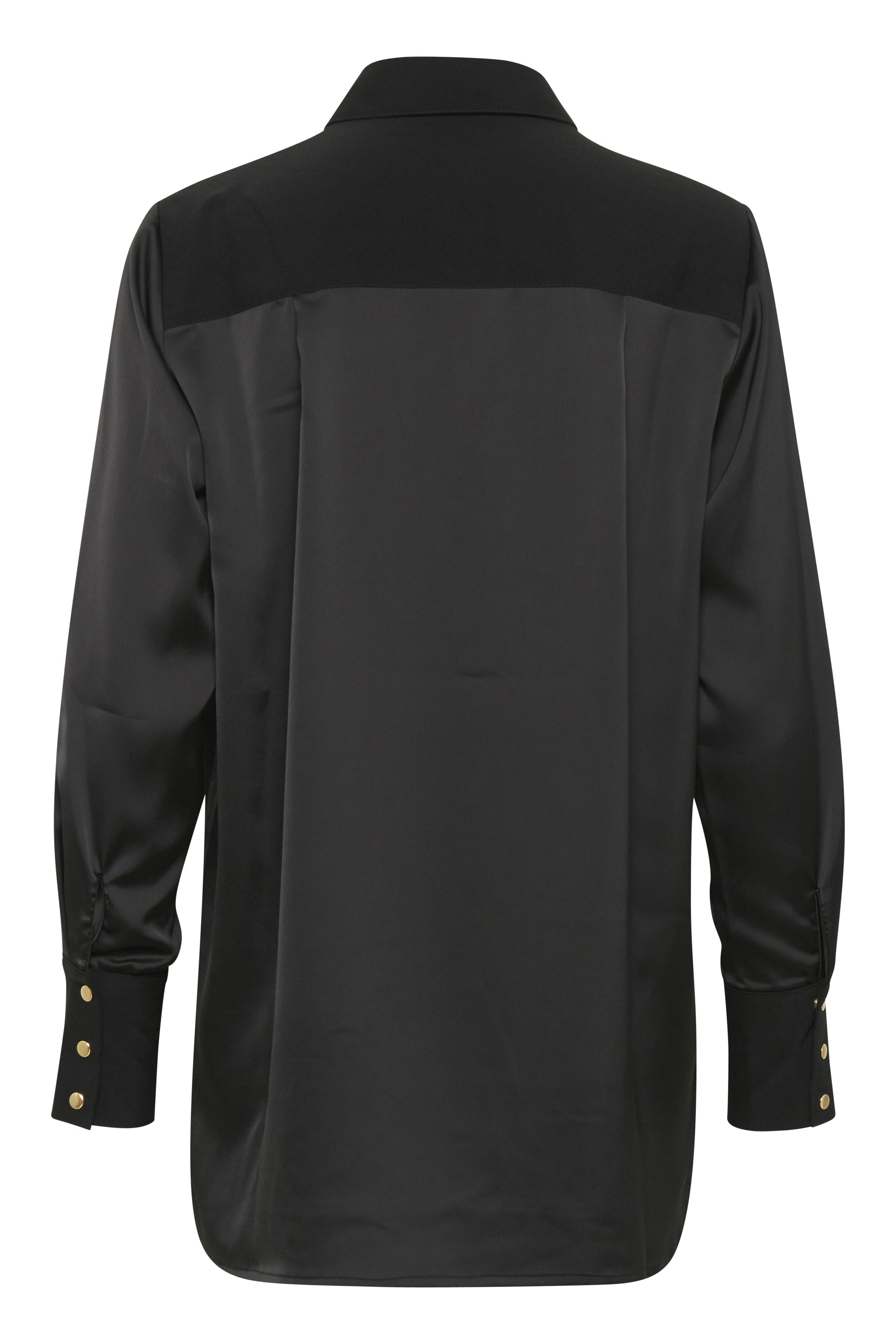 Black Långärmad skjorta från b.young – Köp Black Långärmad skjorta från storlek 36-46 här