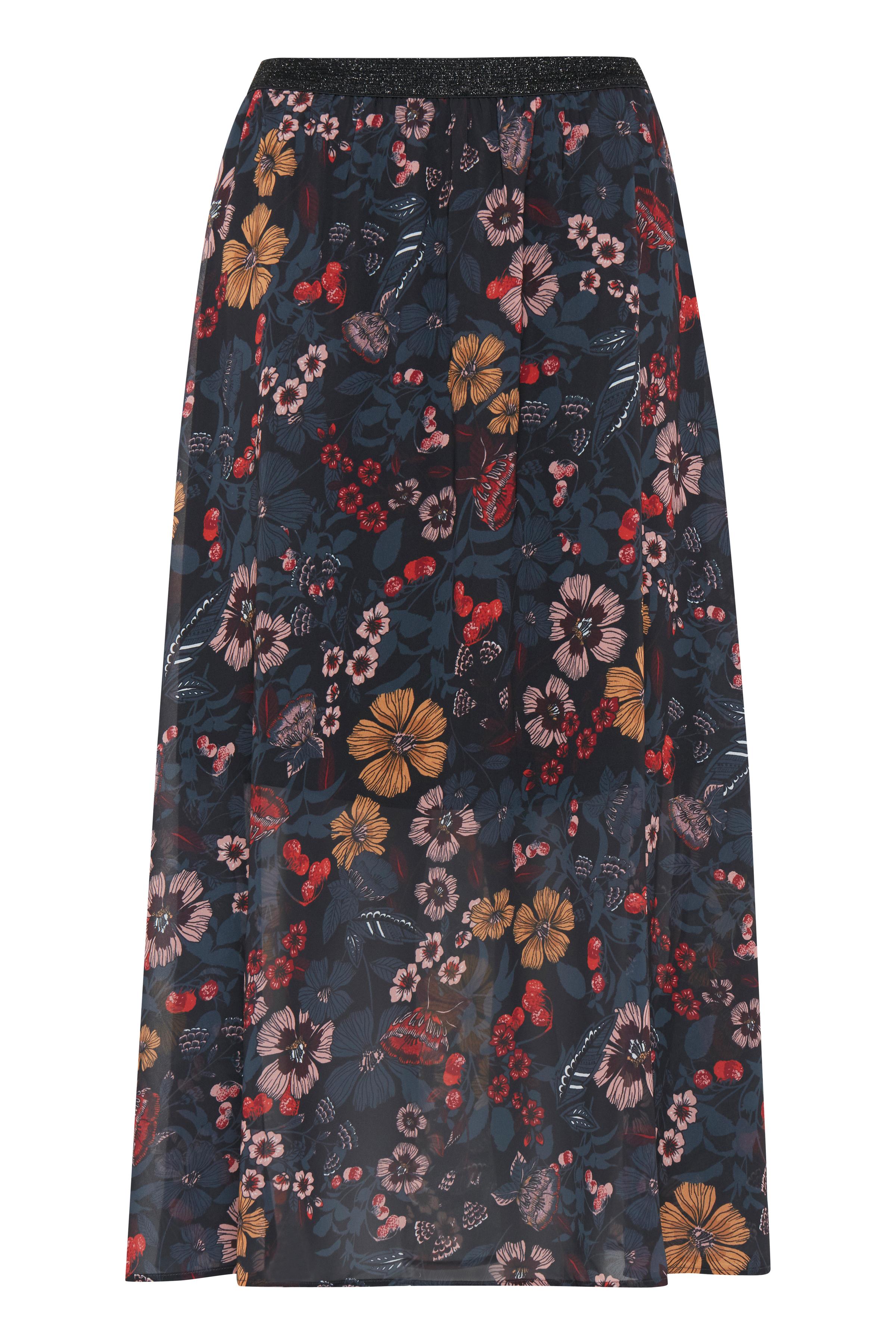 Black print COMBI 1 Skirt from b.young – Buy Black print COMBI 1 Skirt from size 34-46 here
