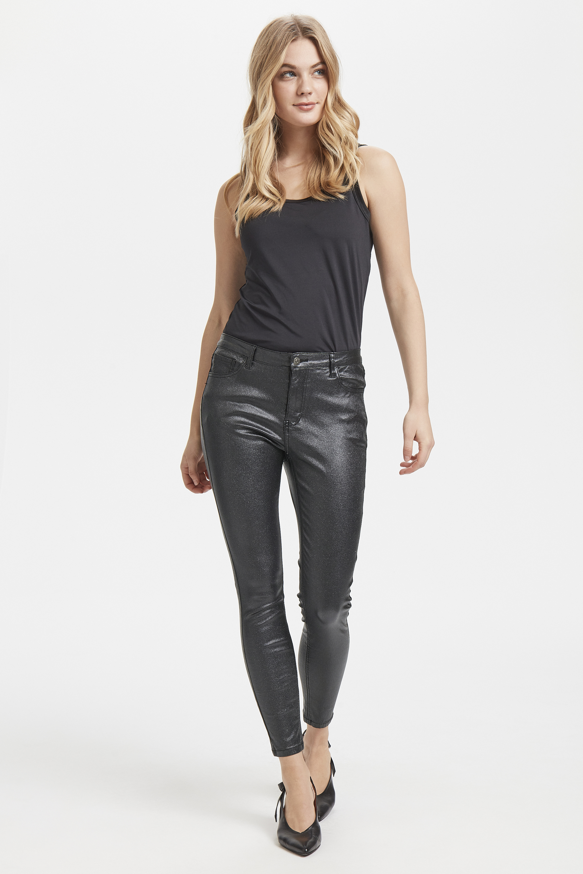 Black shimmer Pants Casual fra b.young – Køb Black shimmer Pants Casual fra str. 25-34 her
