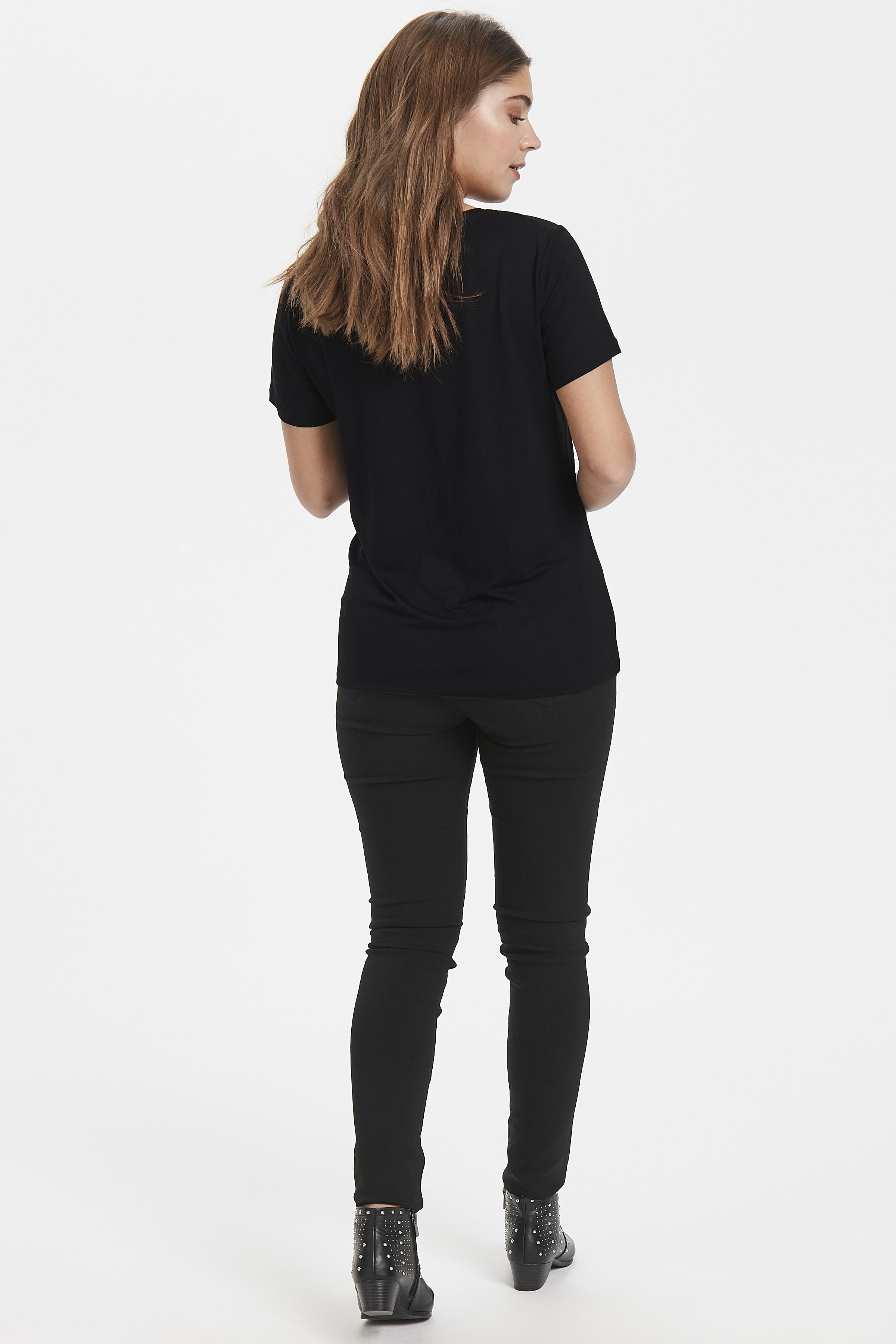 Black T-shirt fra b.young – Køb Black T-shirt fra str. XS-XL her
