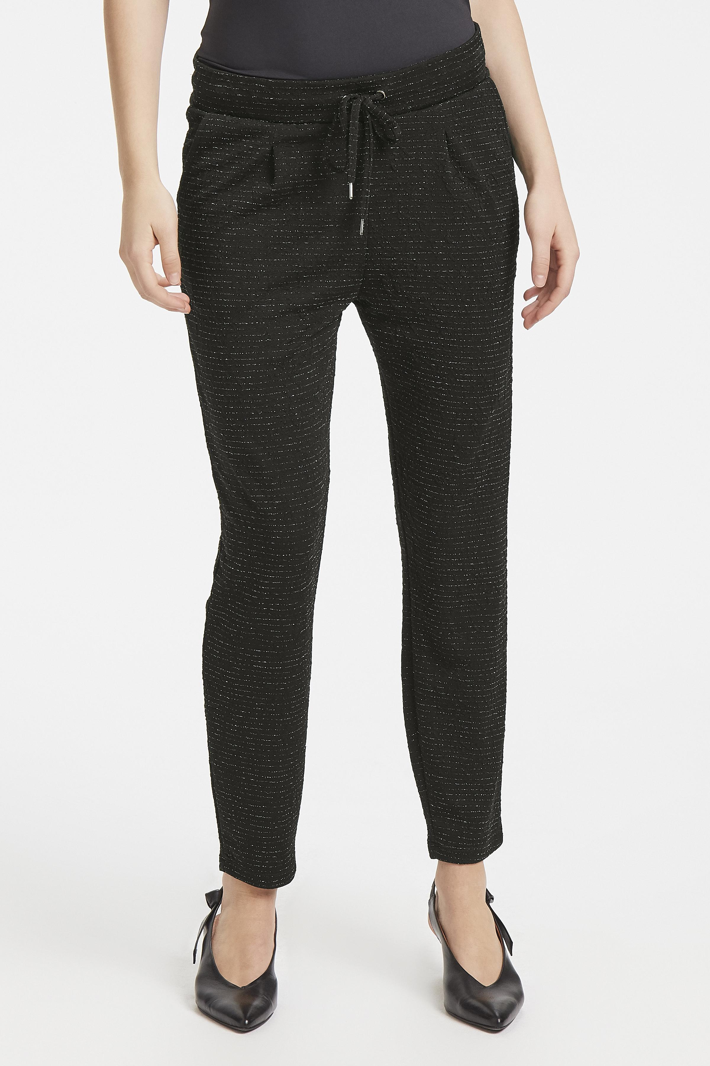 Black w. lurex Pants Casual von b.young – Kaufen Sie Black w. lurex Pants Casual aus Größe S-XXL hier