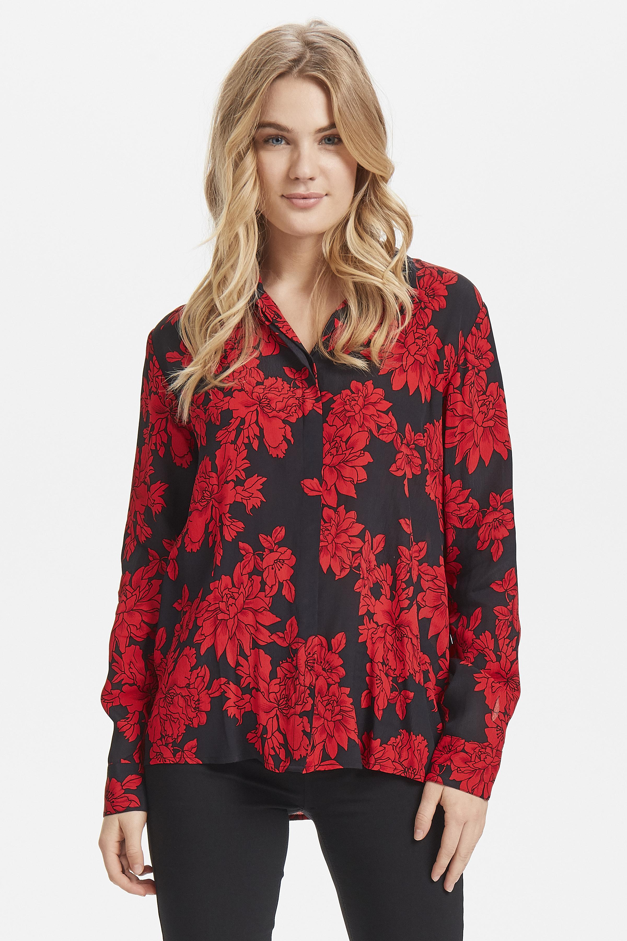 Black w. red flower Langærmet skjorte fra b.young – Køb Black w. red flower Langærmet skjorte fra str. 36-44 her