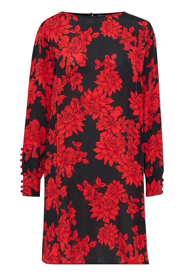 Black w. red flowers Dress from b.young – Buy Black w. red flowers Dress  from size ... e391b5faa7f6
