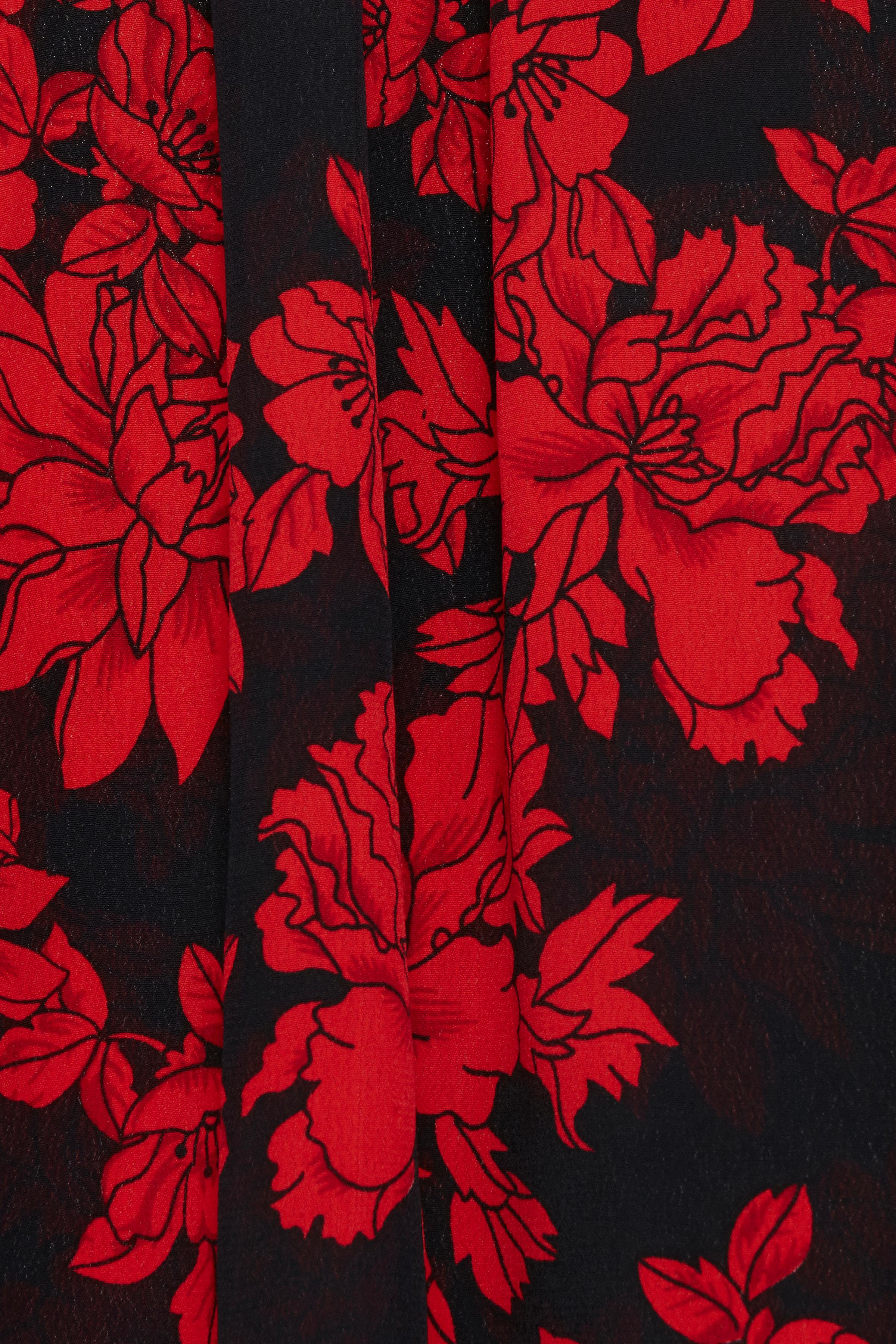 Black w. red flowers Langermet bluse fra b.young - Kjøp Black w. red flowers Langermet bluse fra størrelse 36-46 her