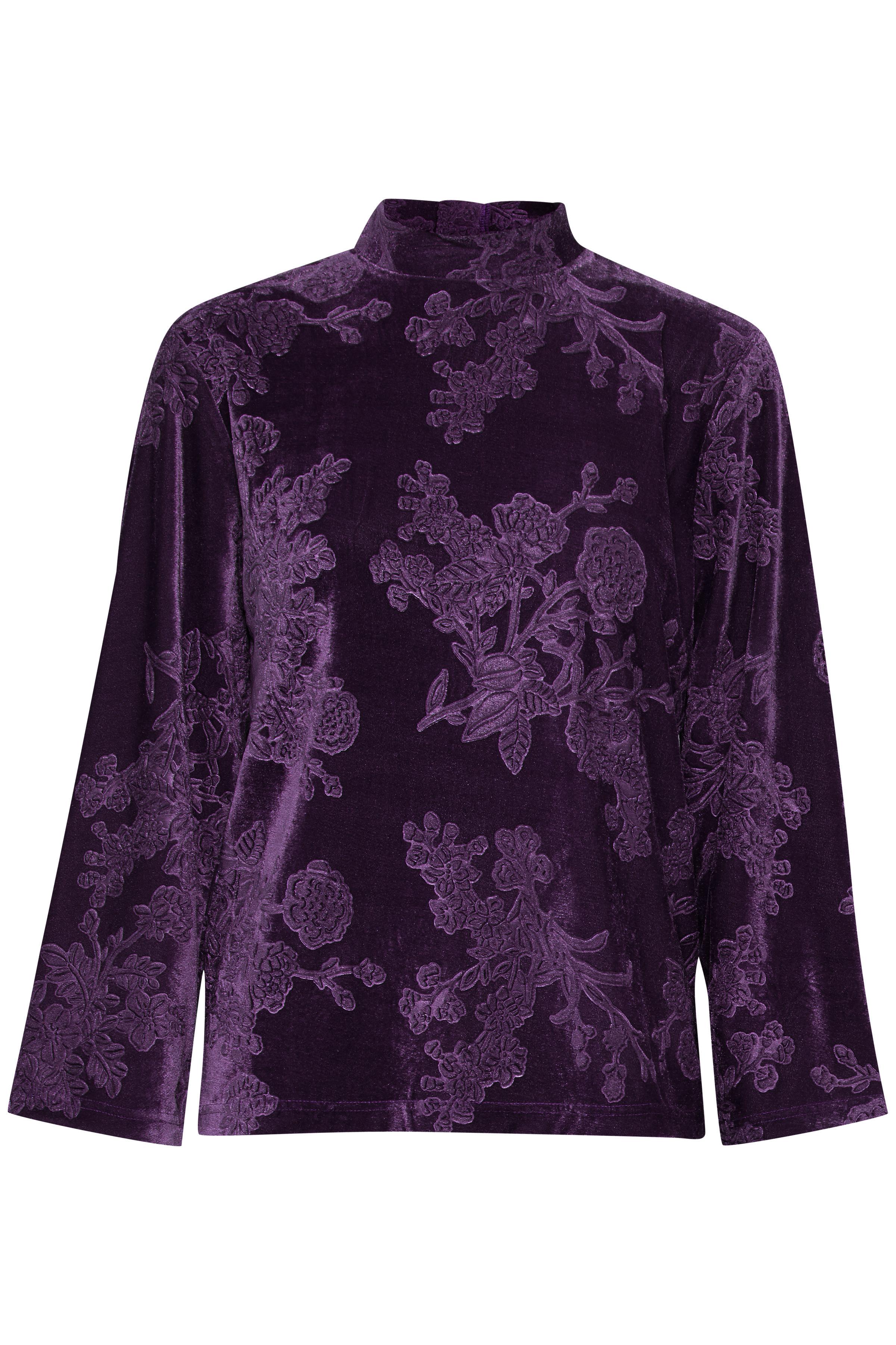 Blackberry Purple Langærmet bluse fra b.young – Køb Blackberry Purple Langærmet bluse fra str. XS-XXL her