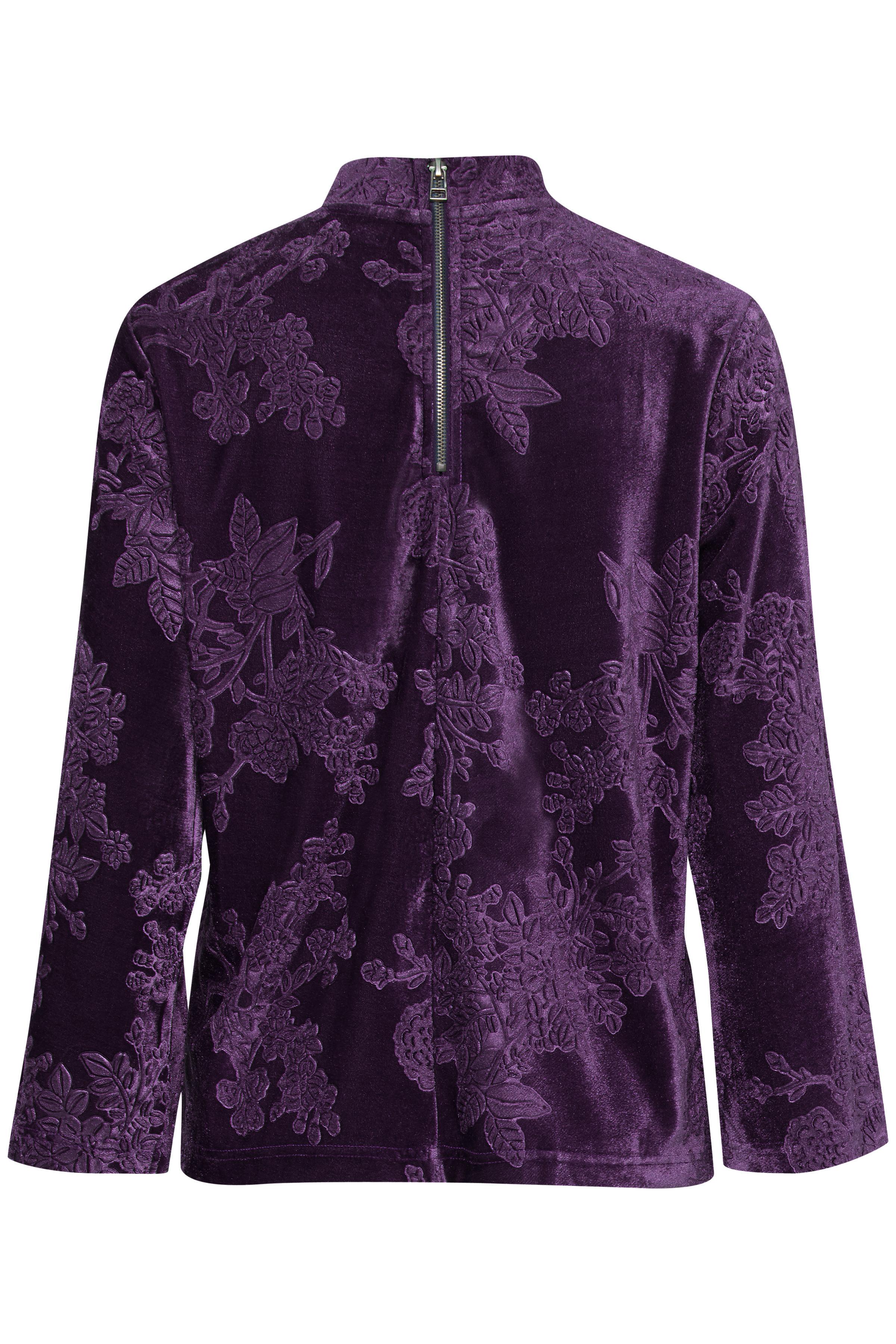 Blackberry Purple Langarm-Bluse von b.young – Kaufen Sie Blackberry Purple Langarm-Bluse aus Größe XS-XXL hier