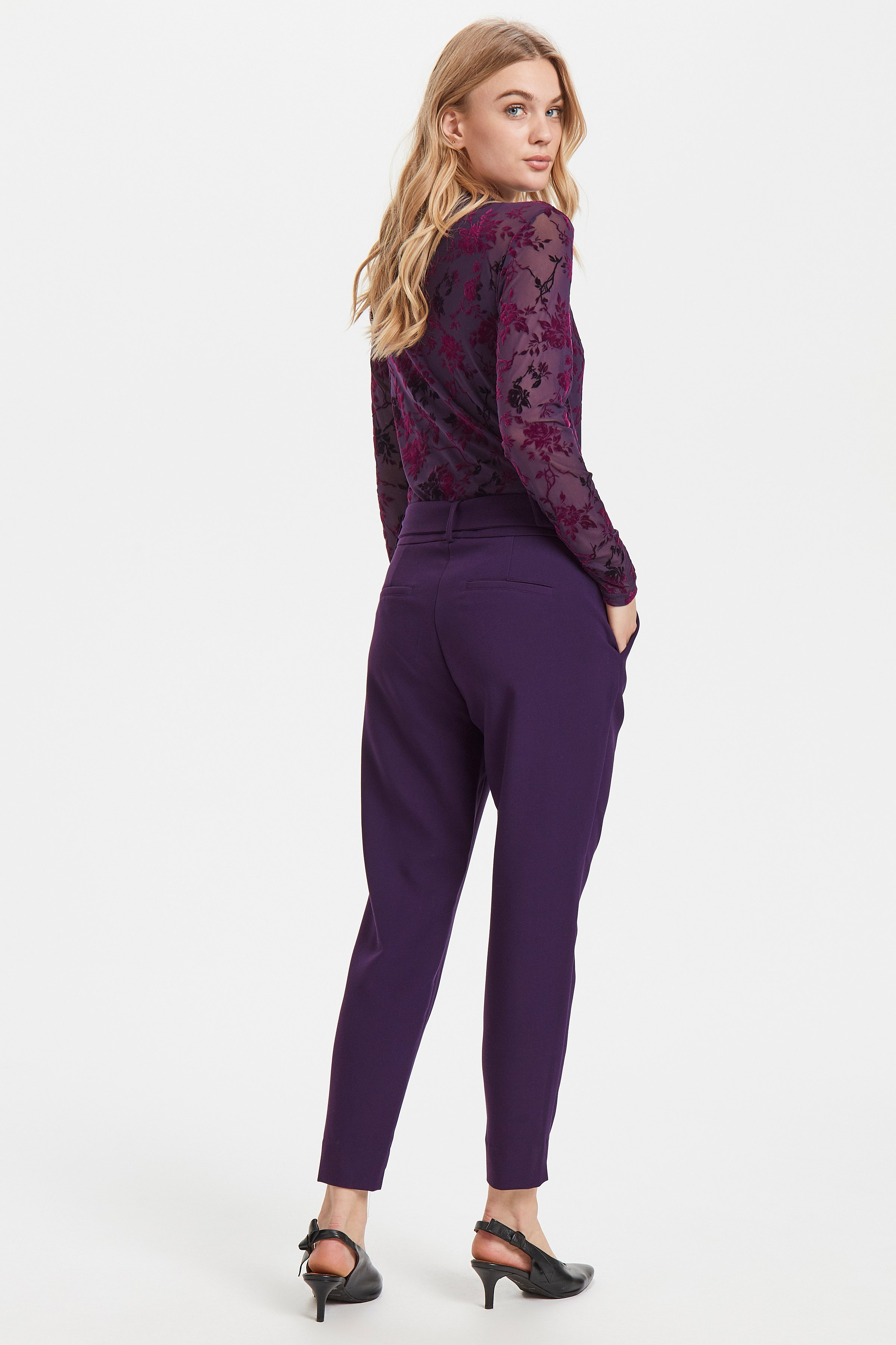 Blackberry Purple Pants Suiting fra b.young – Køb Blackberry Purple Pants Suiting fra str. 36-46 her