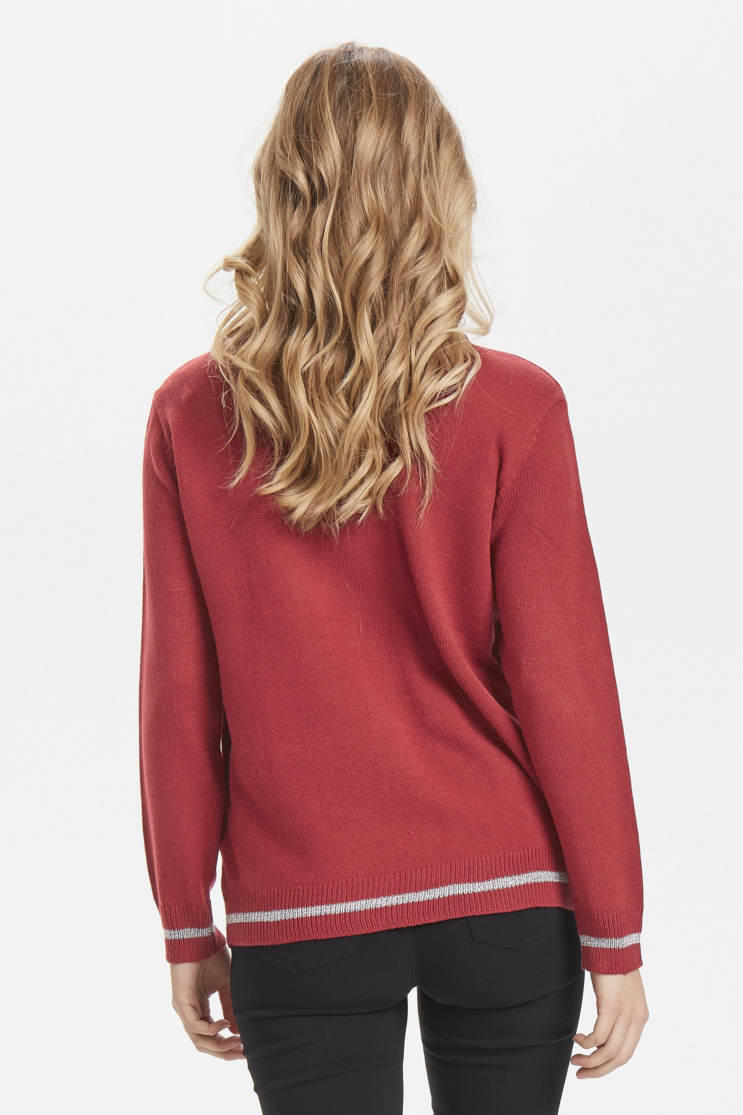 Blood Red Combi 1 Strikket pullover fra b.young - Kjøp Blood Red Combi 1 Strikket pullover fra størrelse XS-XXL her