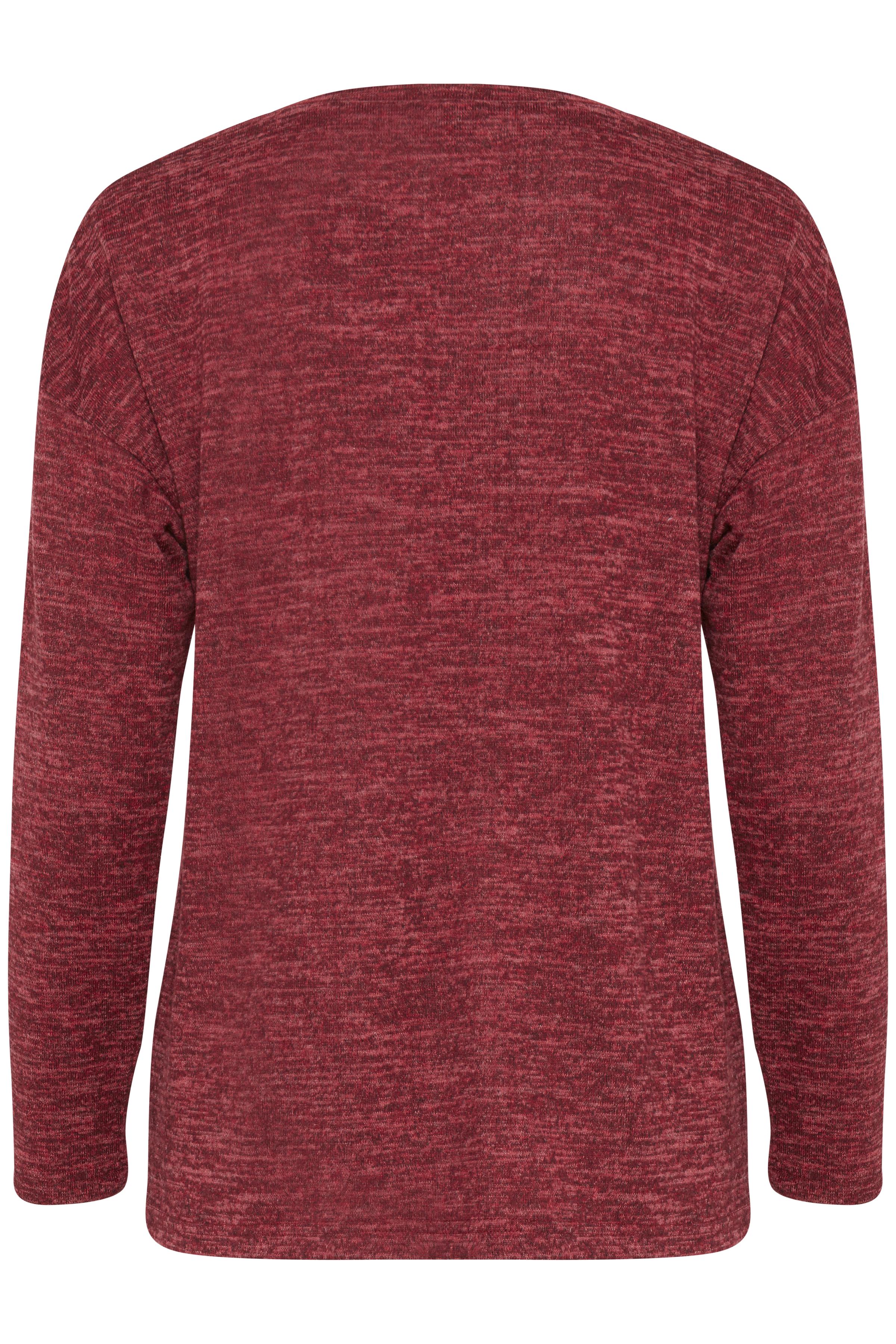Blood Red melange Langærmet bluse fra b.young – Køb Blood Red melange Langærmet bluse fra str. XS-XXL her