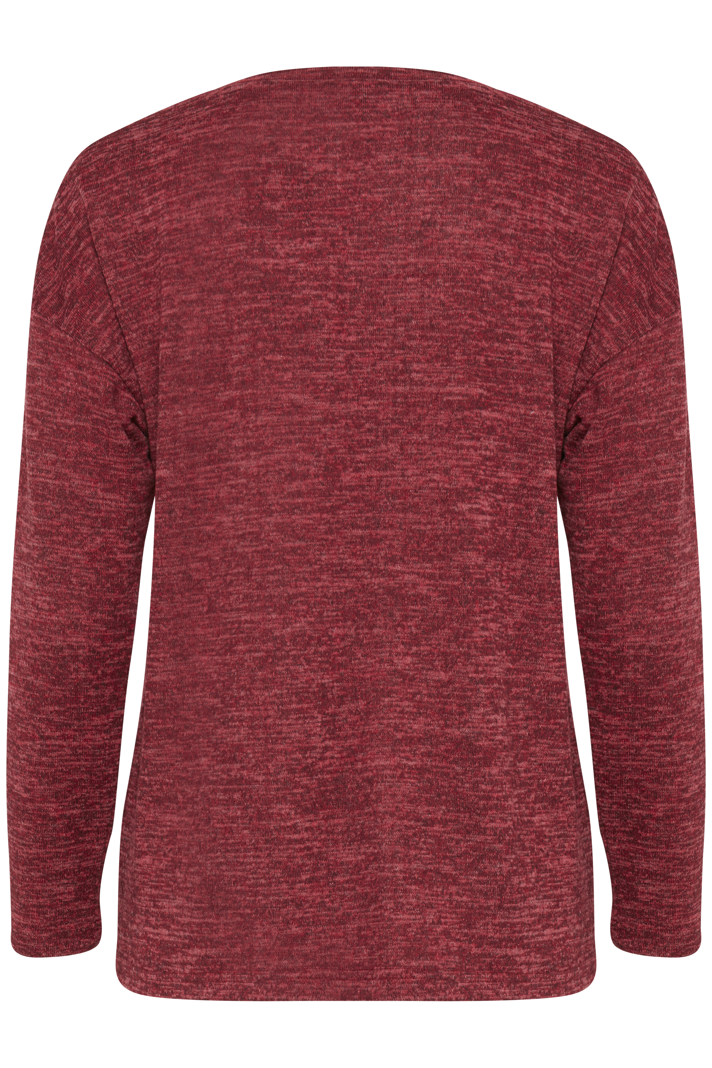 Blood Red melange Langermet bluse fra b.young - Kjøp Blood Red melange Langermet bluse fra størrelse XS-XXL her