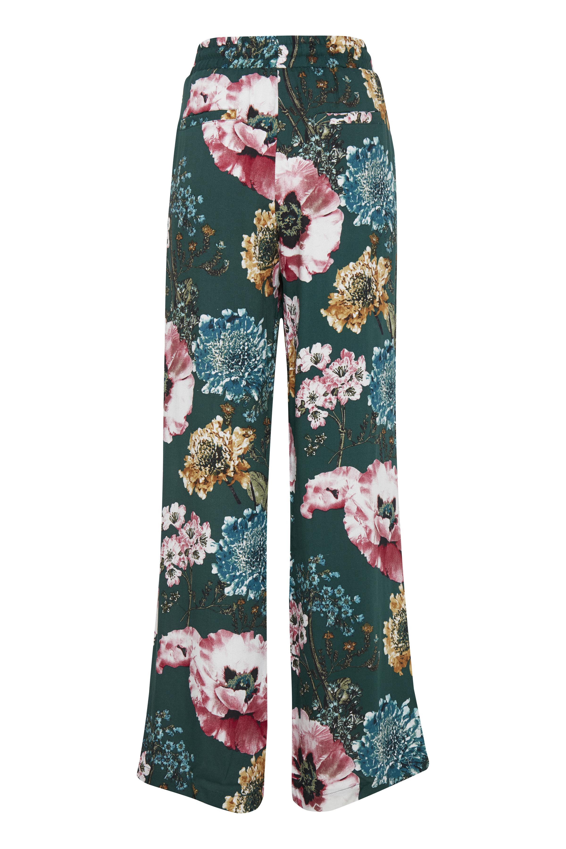 Buteljgrön/rosa Pants Casual från b.young – Köp Buteljgrön/rosa Pants Casual från storlek 36-44 här