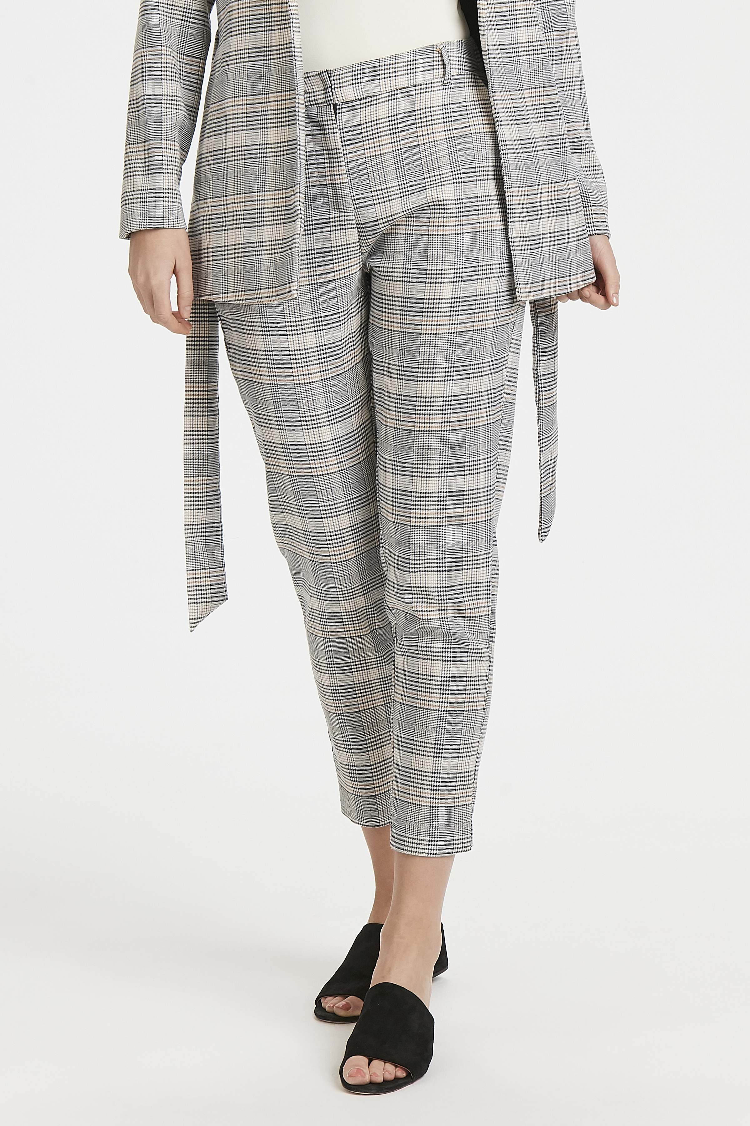 Check combi 1 Pants Casual fra b.young – Køb Check combi 1 Pants Casual fra str. 34-44 her
