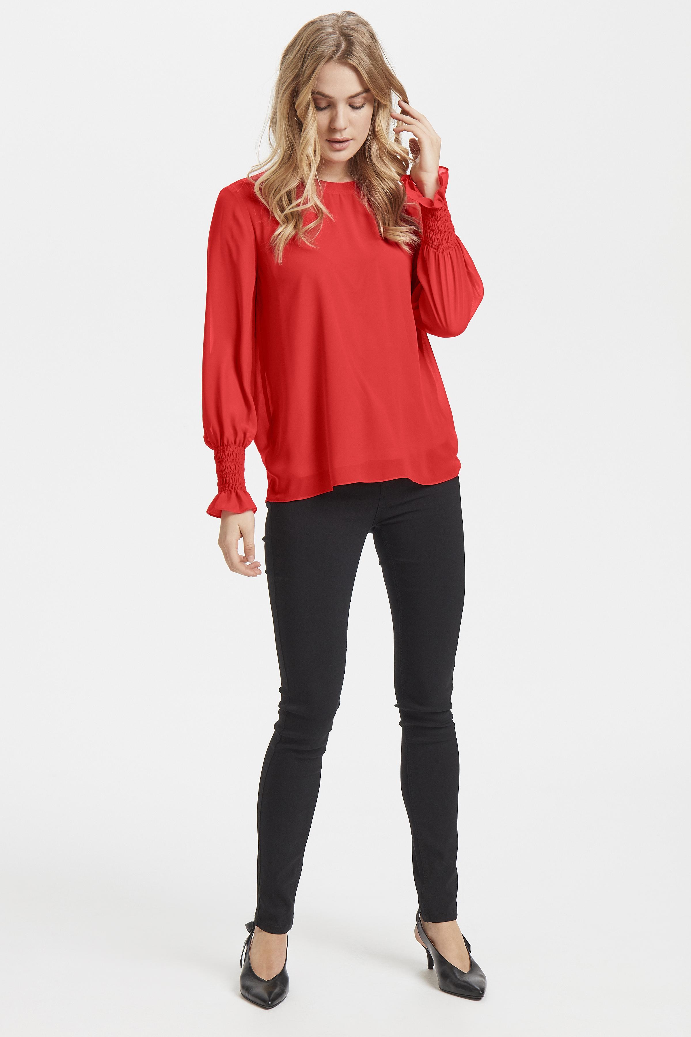 Chinese Red Blouse met lange mouwen van b.young – Koop Chinese Red Blouse met lange mouwen hier van size 34-42