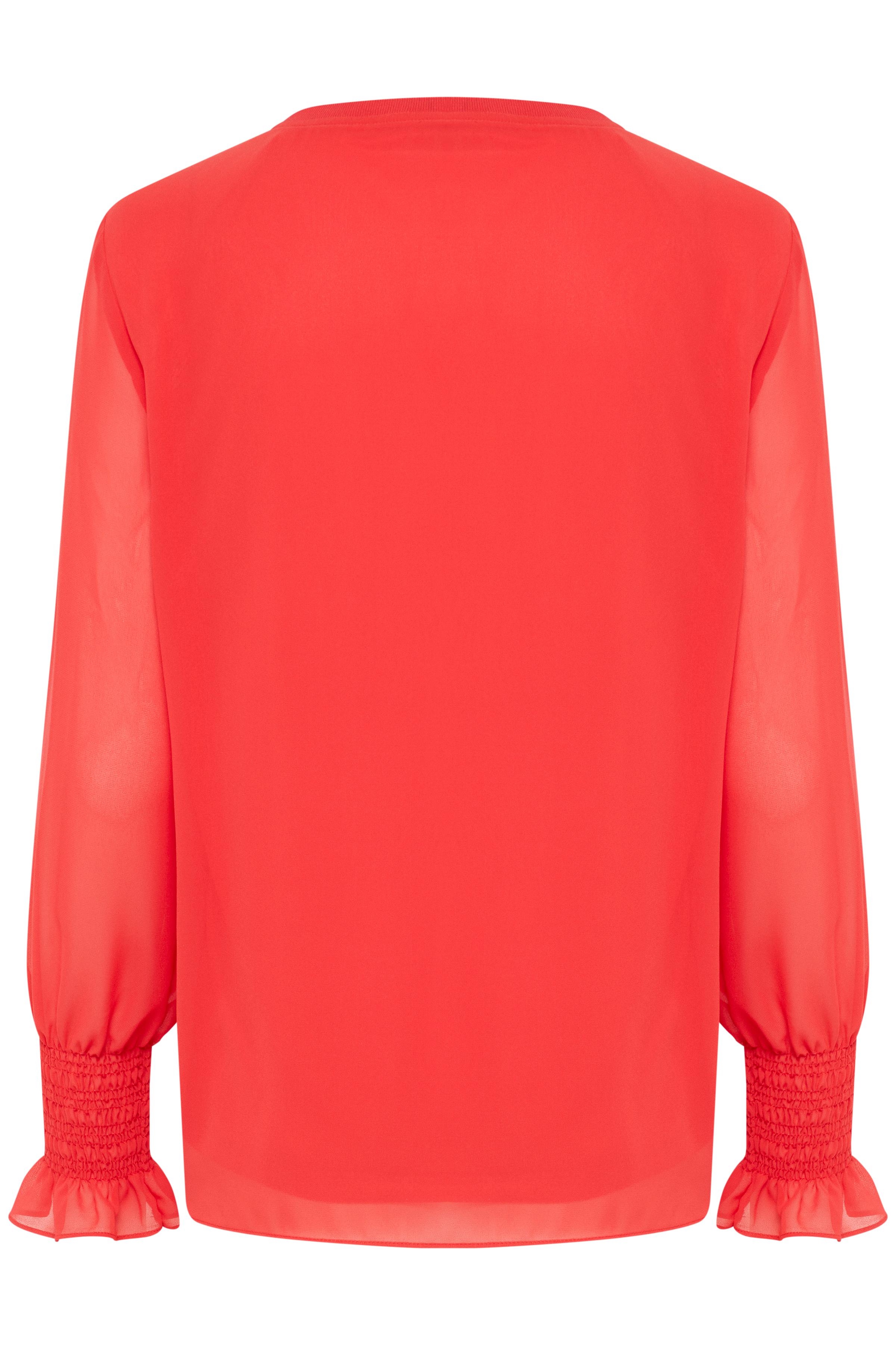 Chinese Red Långärmad blus från b.young – Köp Chinese Red Långärmad blus från storlek 34-42 här