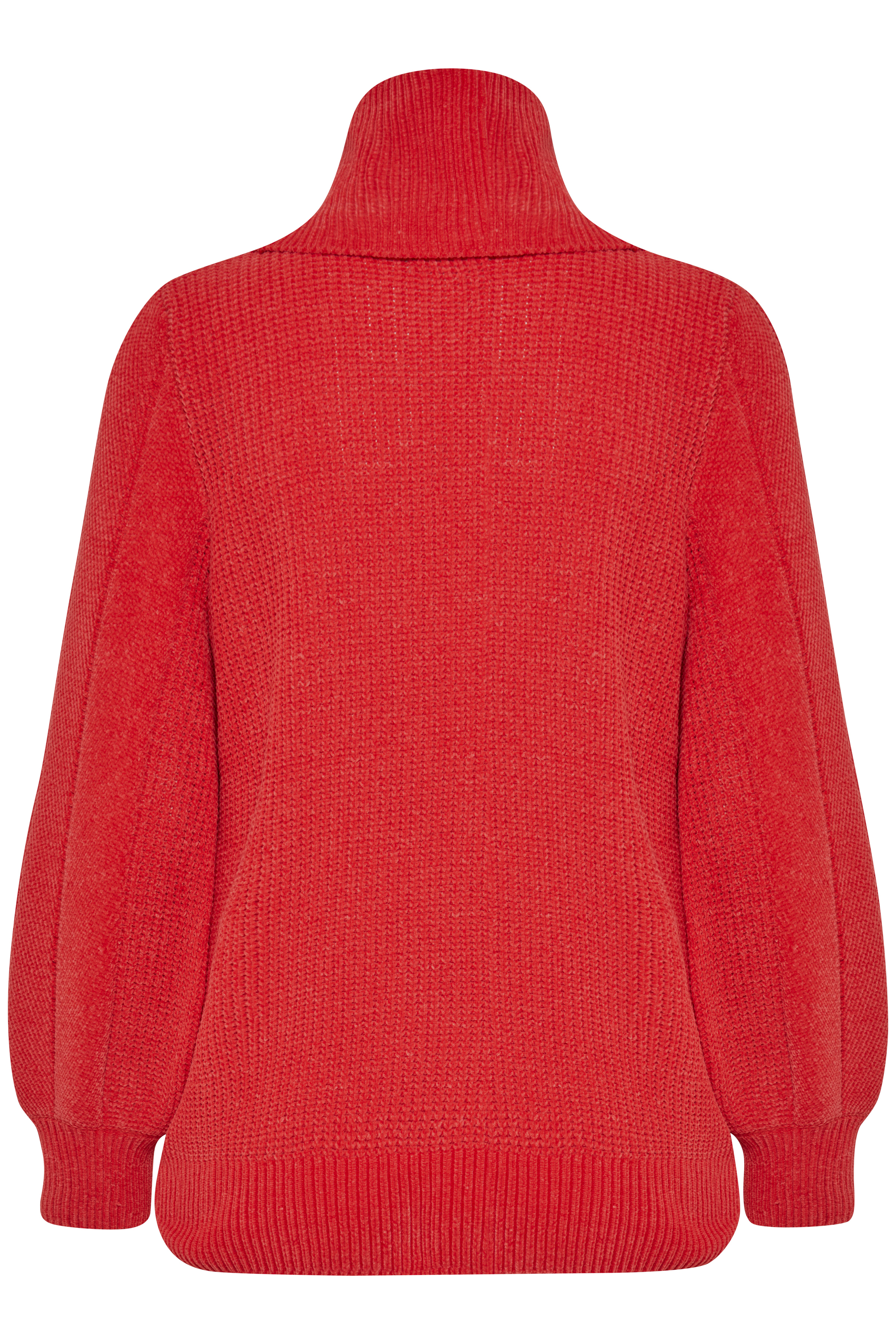 Chinese Red Strikket pullover fra b.young - Kjøp Chinese Red Strikket pullover fra størrelse XS-XXL her