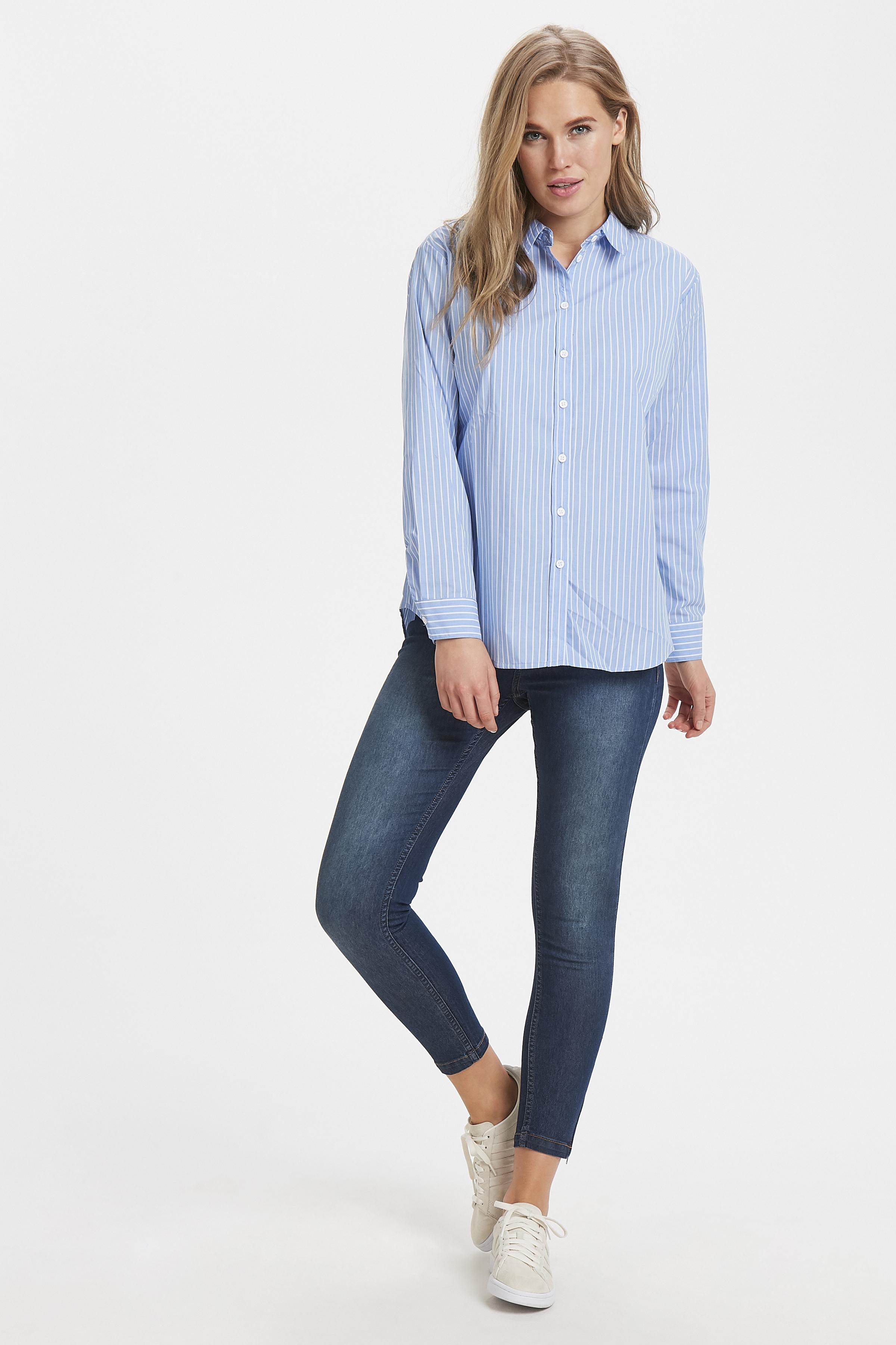 Cornflower Blue combi Langarm - Hemd von b.young – Kaufen Sie Cornflower Blue combi Langarm - Hemd aus Größe 34-44 hier