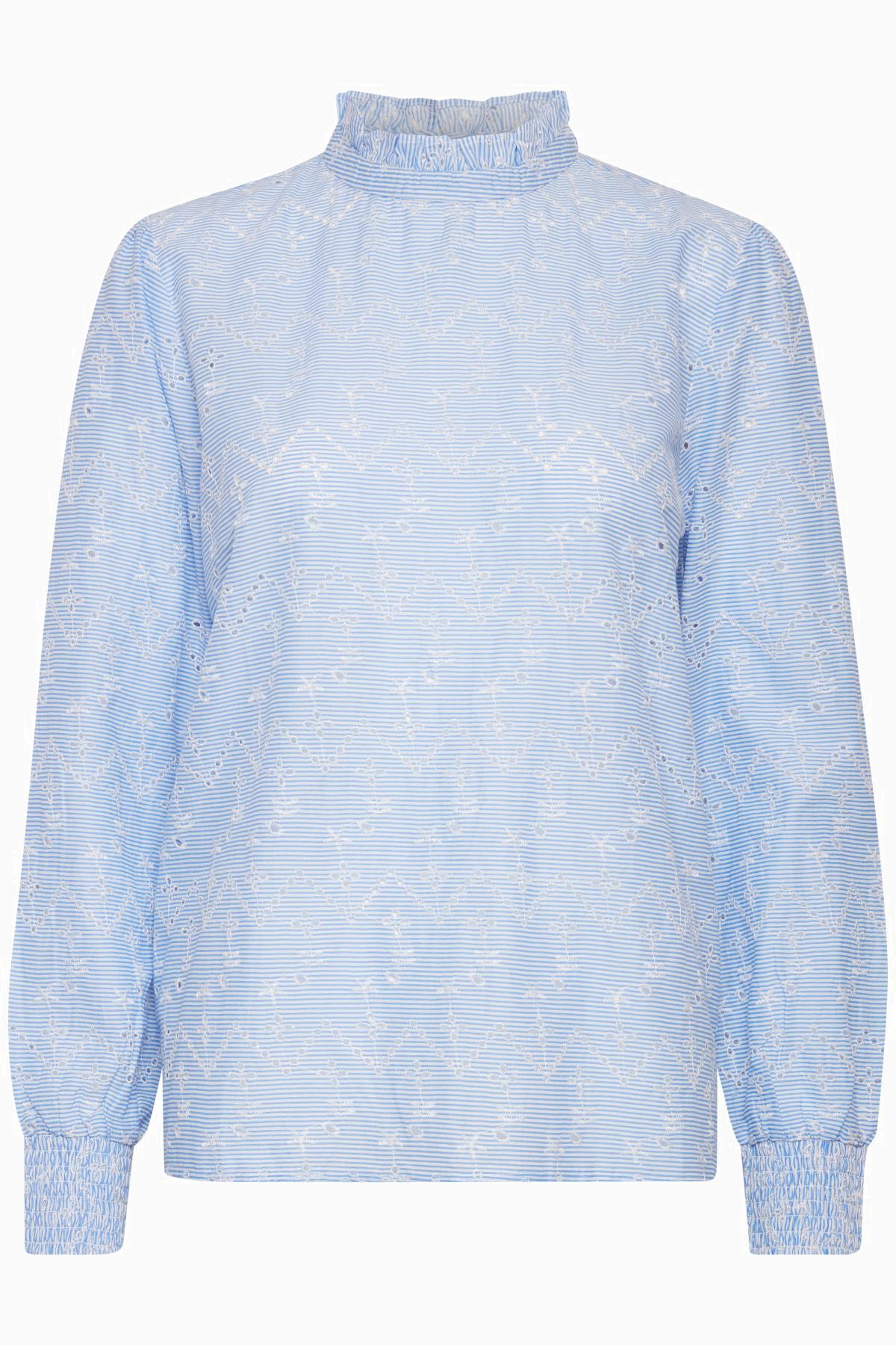 Cornflower Blue Langærmet bluse fra b.young – Køb Cornflower Blue Langærmet bluse fra str. 36-46 her