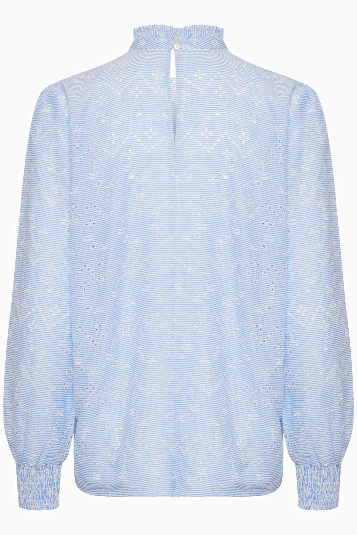 Cornflower Blue Langarm-Bluse von b.young – Kaufen Sie Cornflower Blue Langarm-Bluse aus Größe 36-46 hier