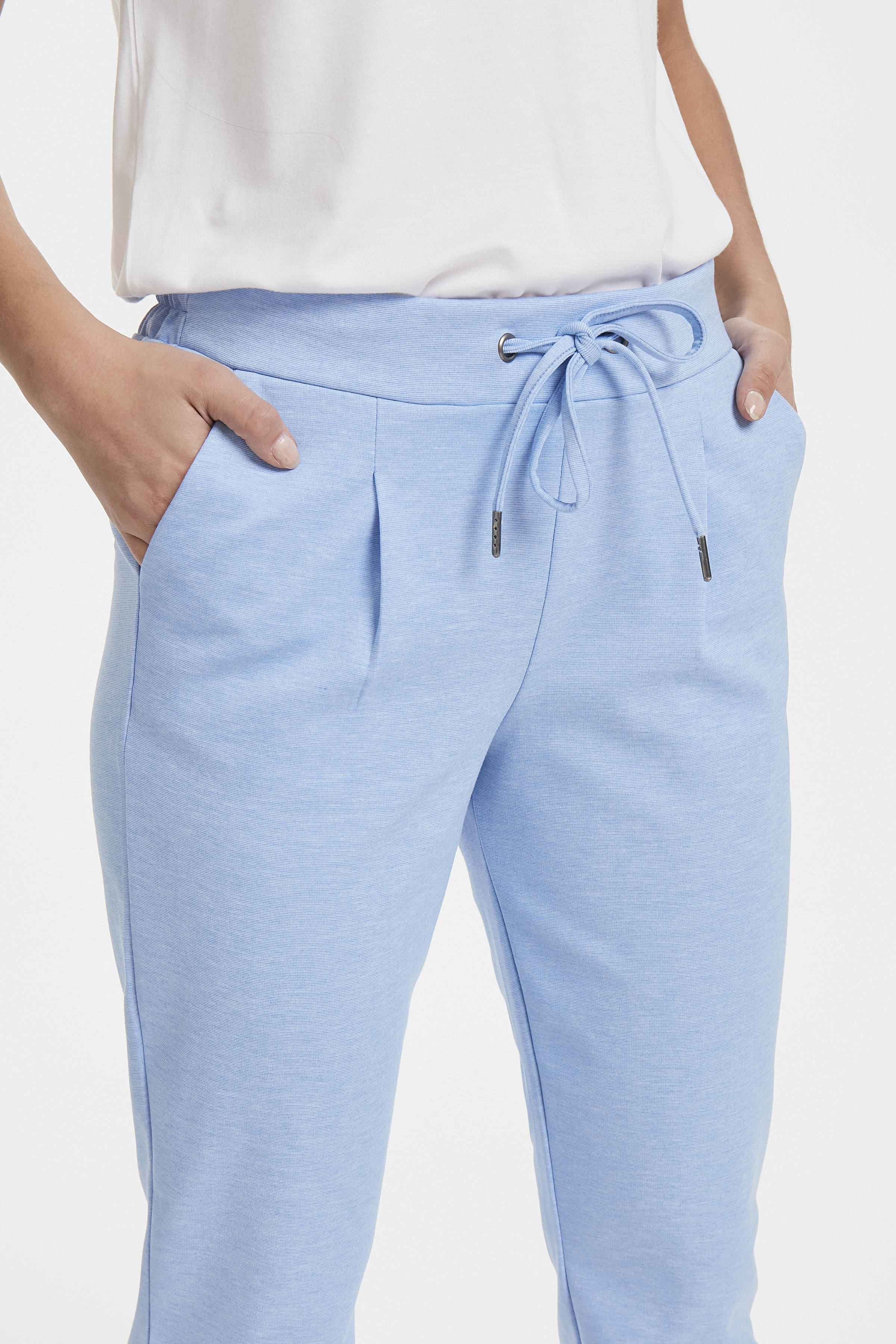 Cornflower Blue Mel. Pants Casual fra b.young – Køb Cornflower Blue Mel. Pants Casual fra str. S-XXL her