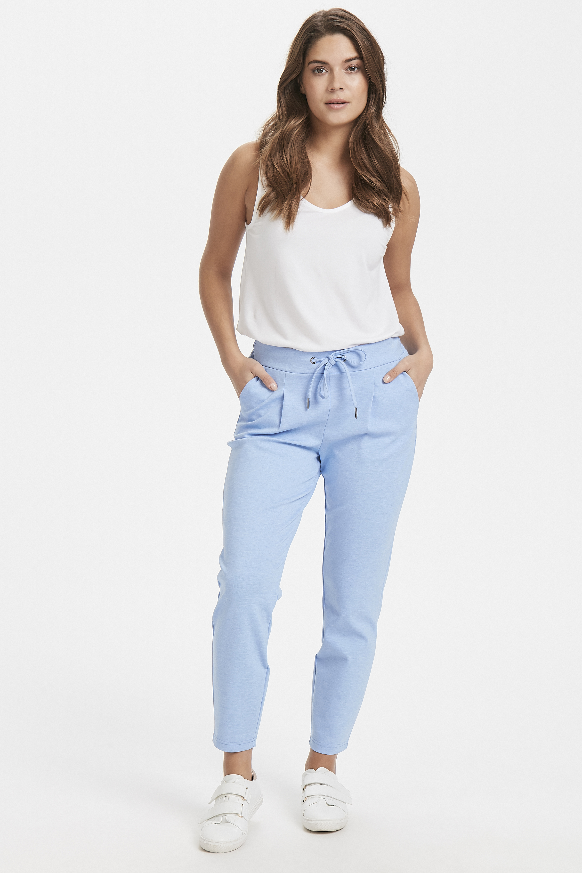 Cornflower Blue Mel. Pants Casual from b.young – Buy Cornflower Blue Mel. Pants Casual from size S-XXL here
