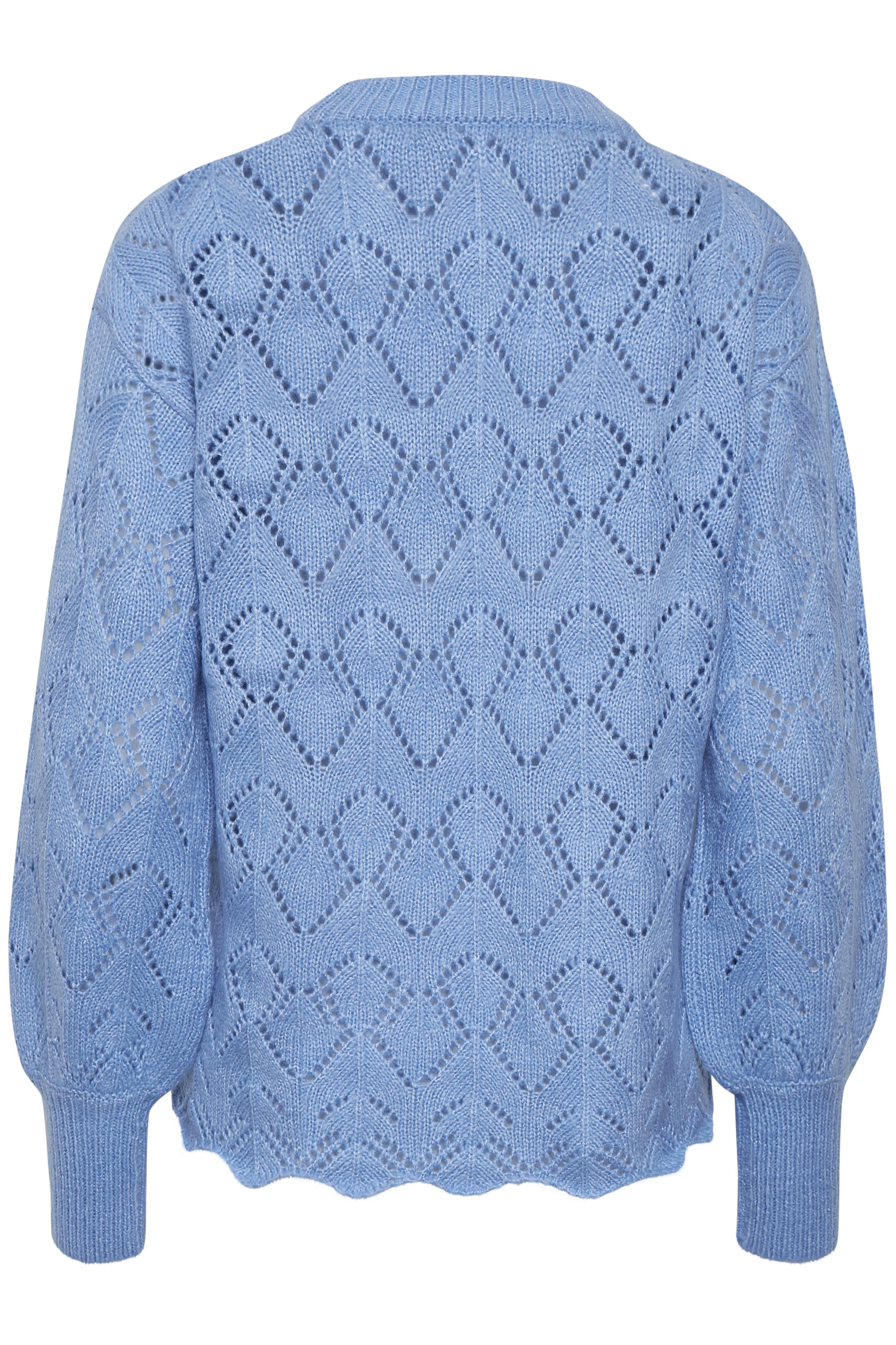 Cornflower Blue Mel. Pullover van b.young – Koop Cornflower Blue Mel. Pullover hier van size XS-XXL