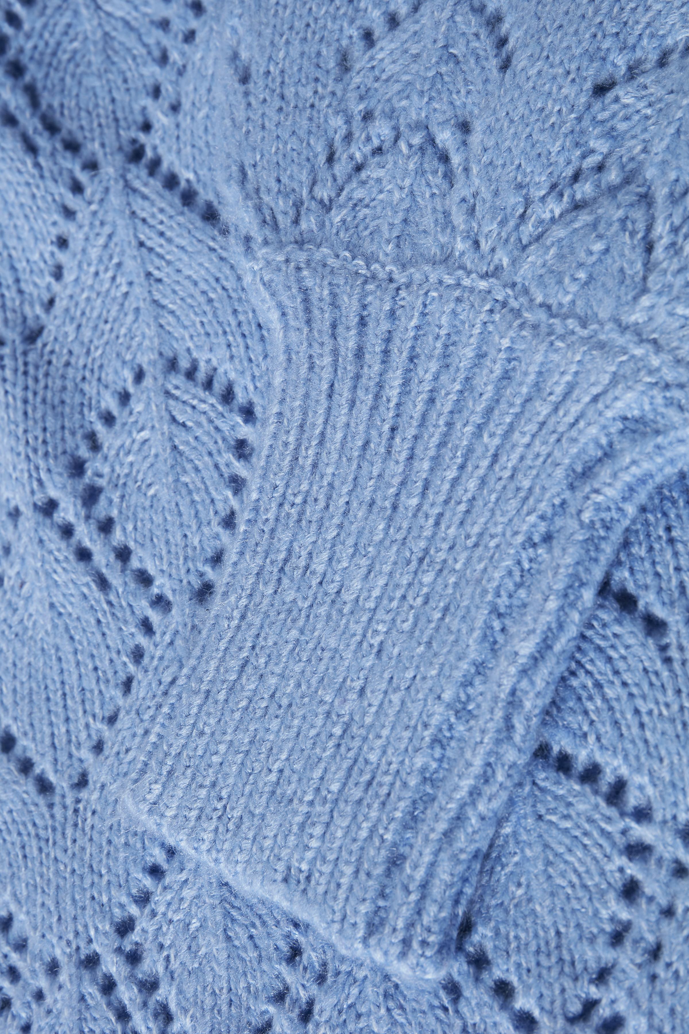 Cornflower Blue Mel. Strikpullover fra b.young – Køb Cornflower Blue Mel. Strikpullover fra str. XS-XXL her