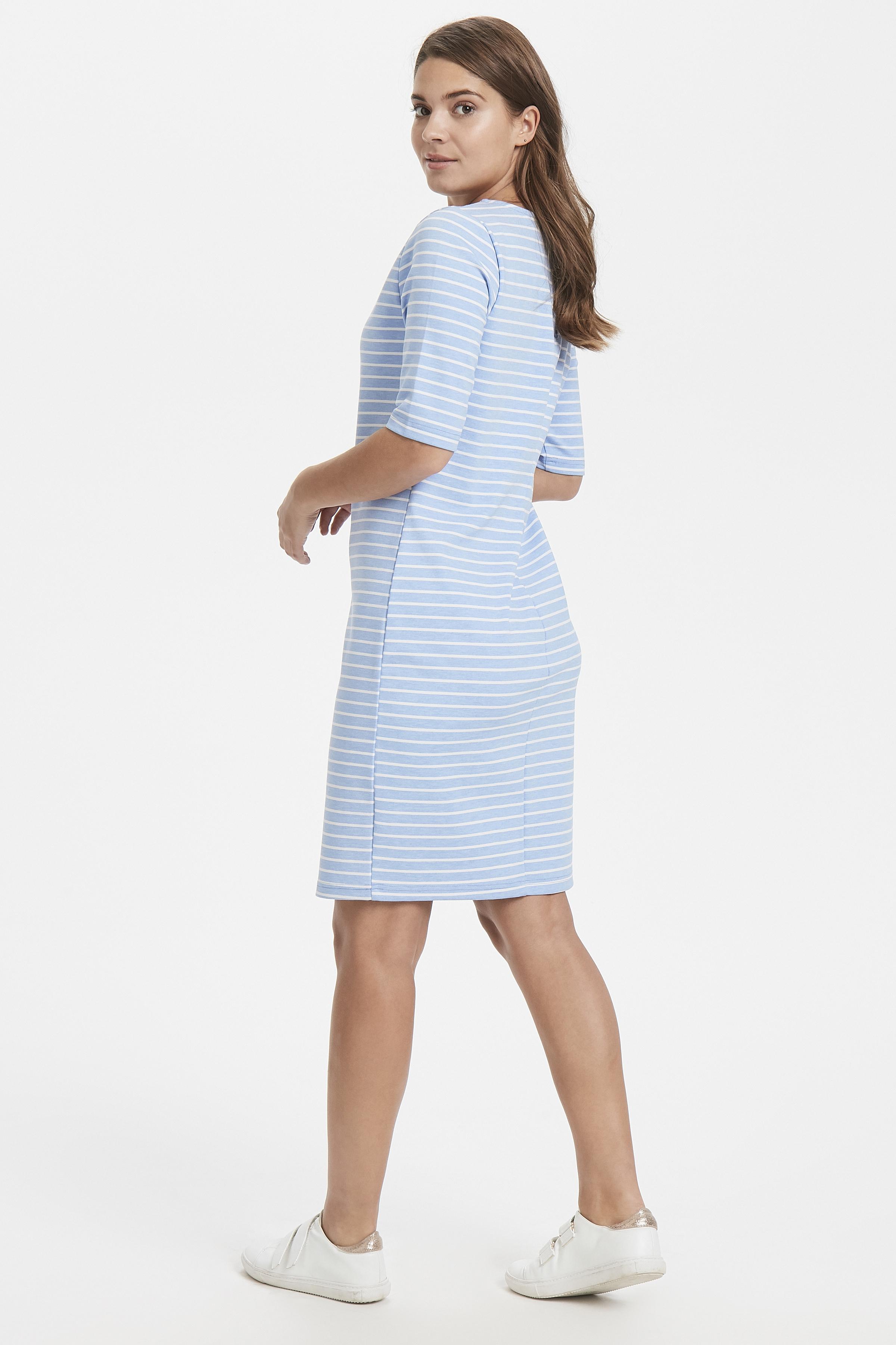 Cornflower Blue Mel. Stripe Kleid von b.young – Kaufen Sie Cornflower Blue Mel. Stripe Kleid aus Größe S-XXL hier