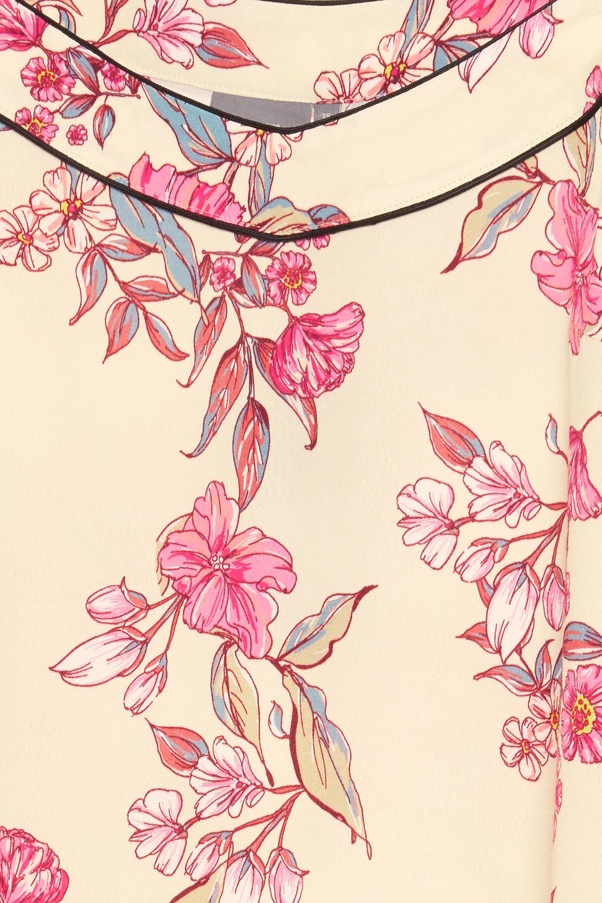 Creme/pink Top fra b.young – Køb Creme/pink Top fra str. 36-46 her