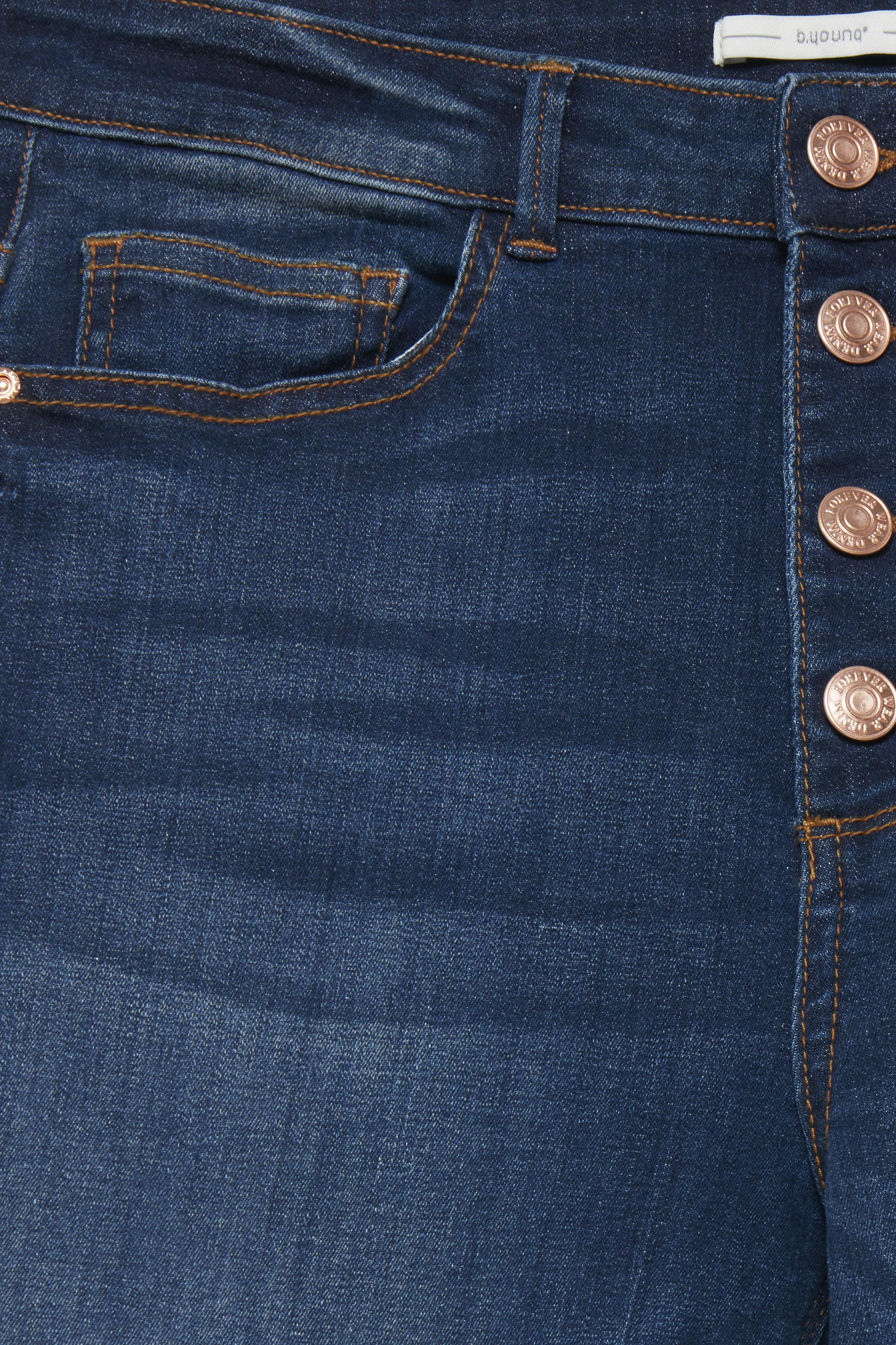 Dark blue denim Jeans fra b.young – Køb Dark blue denim Jeans fra str. 27-35 her