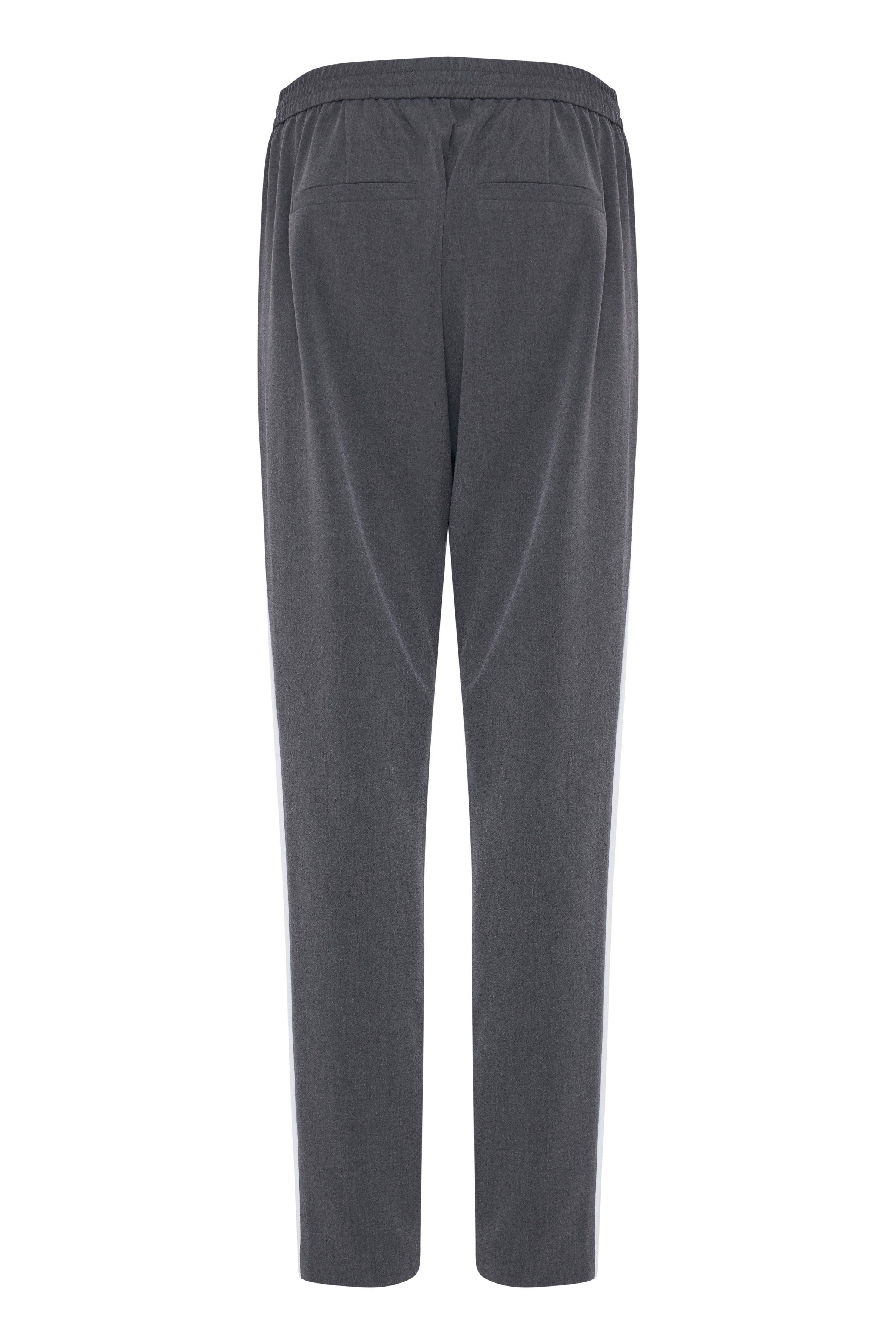 Dark Grey Mel. comb Pants Casual fra b.young – Køb Dark Grey Mel. comb Pants Casual fra str. 34-44 her
