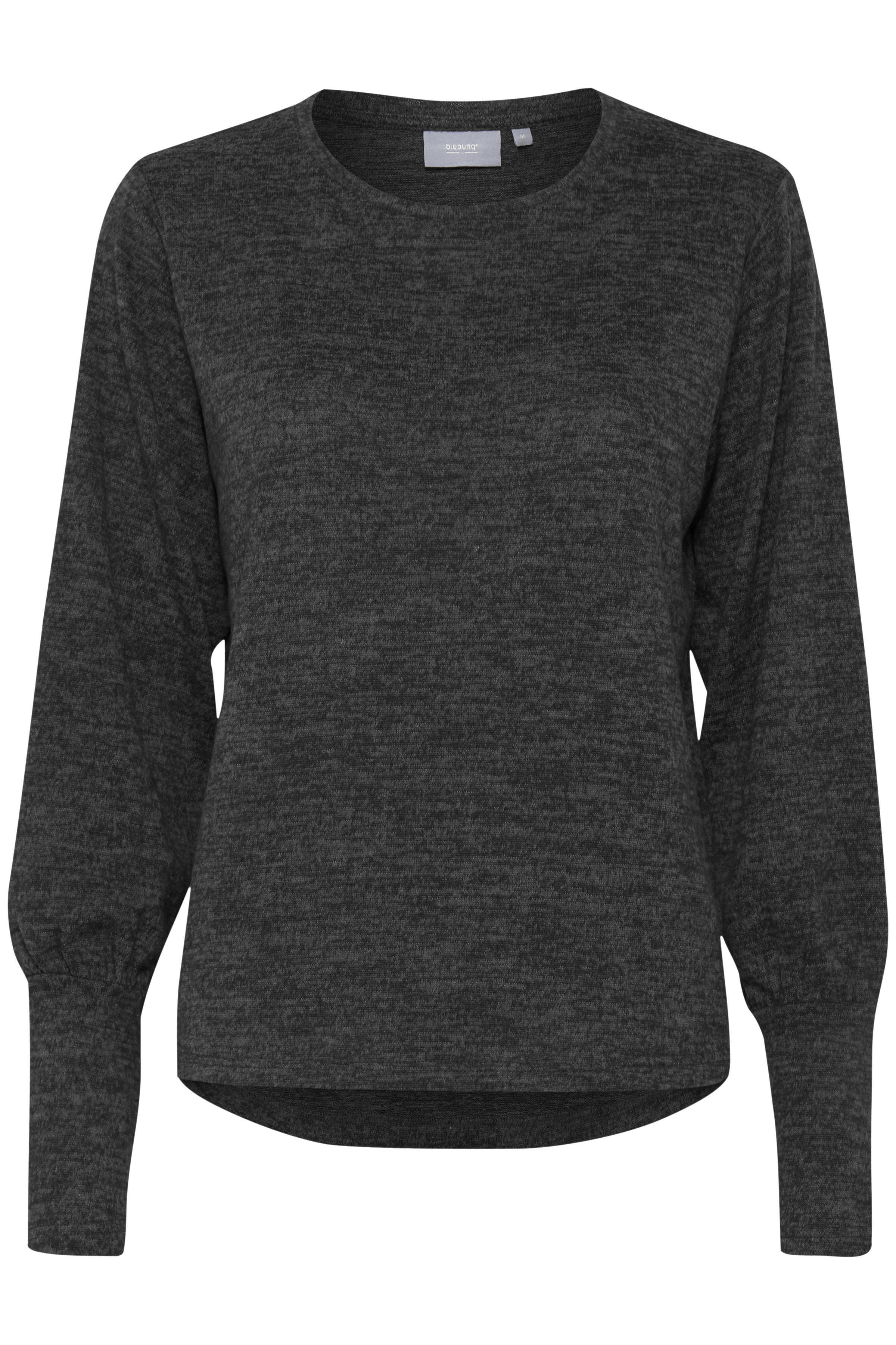 Dark Grey Mel. Langærmet T-shirt fra b.young – Køb Dark Grey Mel. Langærmet T-shirt fra str. XS-XL her