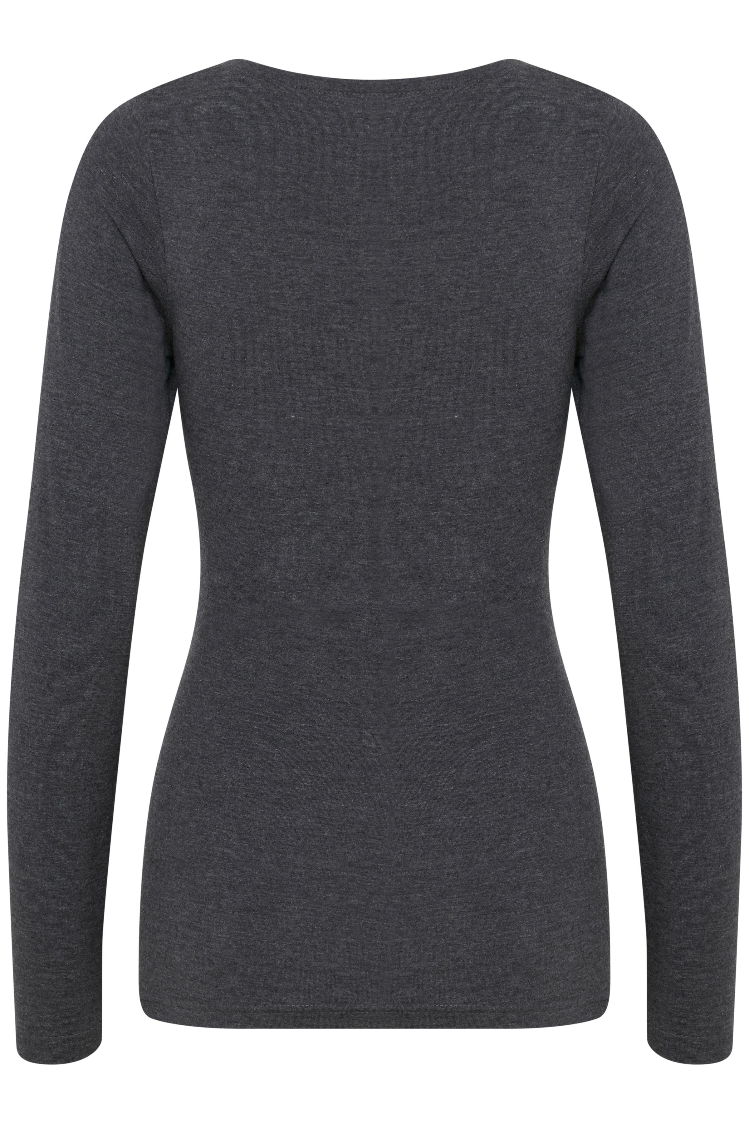 Dark Grey Mel Langarm-Shirt von b.young – Kaufen Sie Dark Grey Mel Langarm-Shirt aus Größe XS-XXL hier