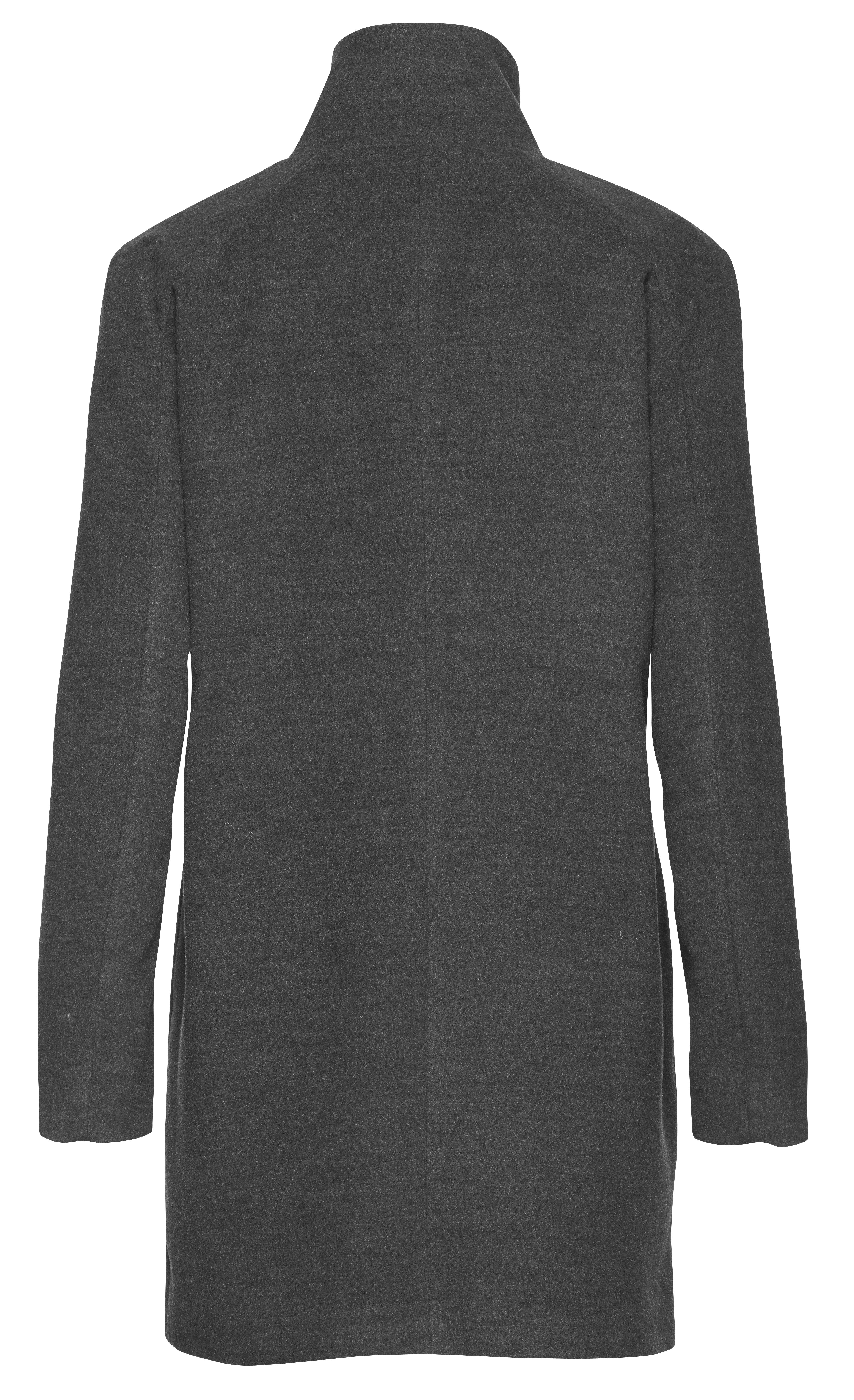 Dark Grey Mel. Overtøj fra b.young – Køb Dark Grey Mel. Overtøj fra str. 34-46 her