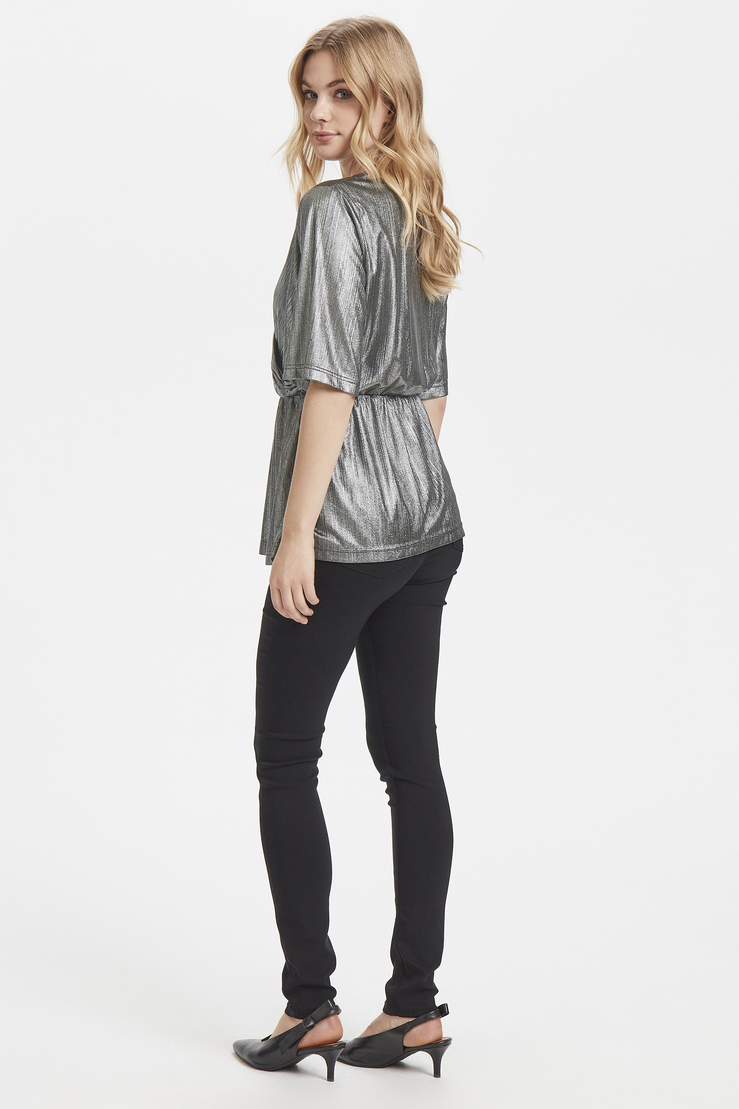 Dull Silver Langærmet T-shirt fra b.young – Køb Dull Silver Langærmet T-shirt fra str. XS-XL her